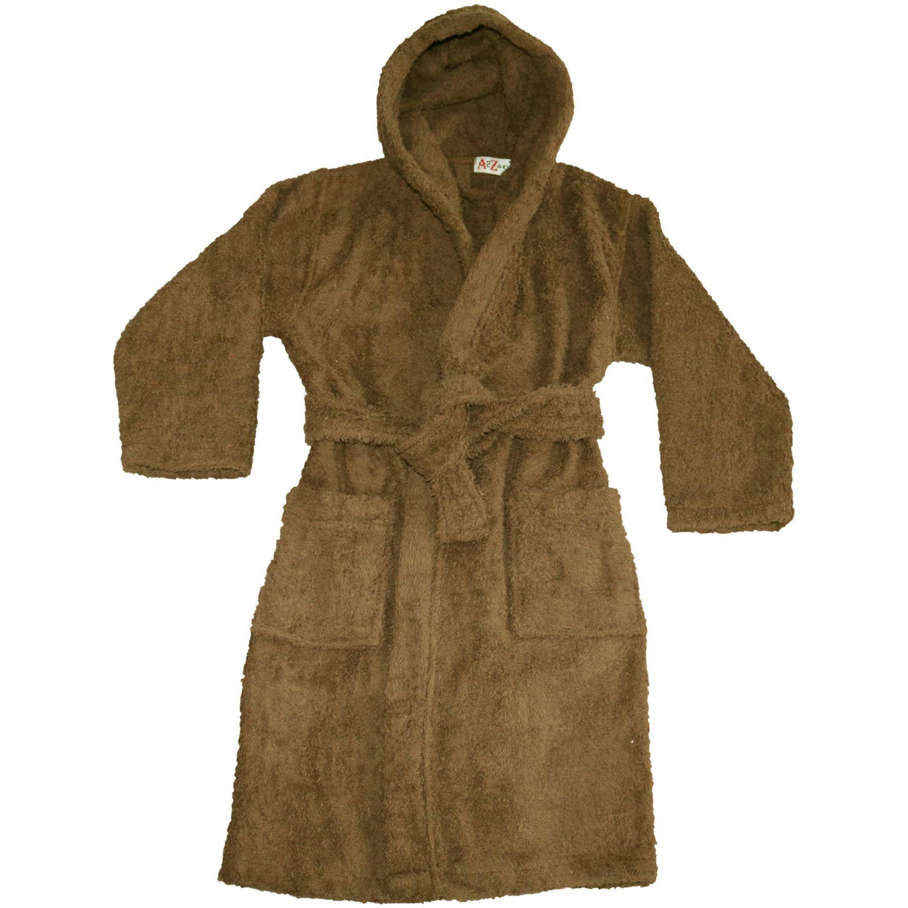 715a2a8870dac Kids Girls Boys Cotton Soft Terry Hooded Bathrobe Luxury Dressing ...