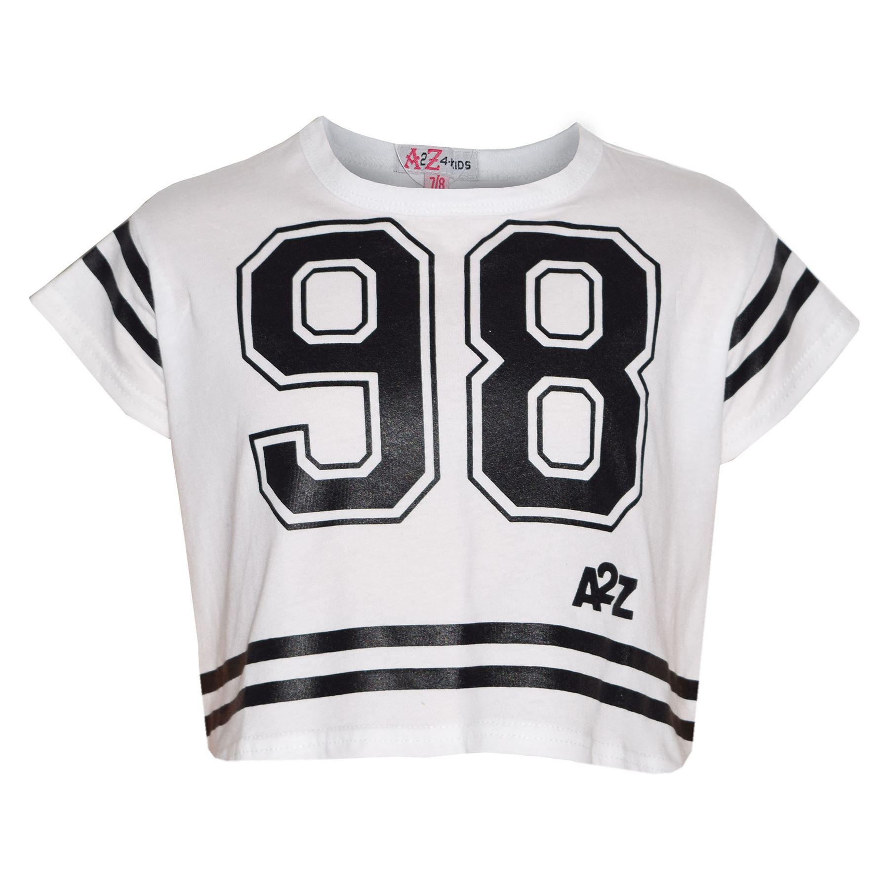 Girls-Top-Kids-98-Print-Stylish-Fahsion-Trendy-T-Shirt-Crop-Top-Age-5-13-Years