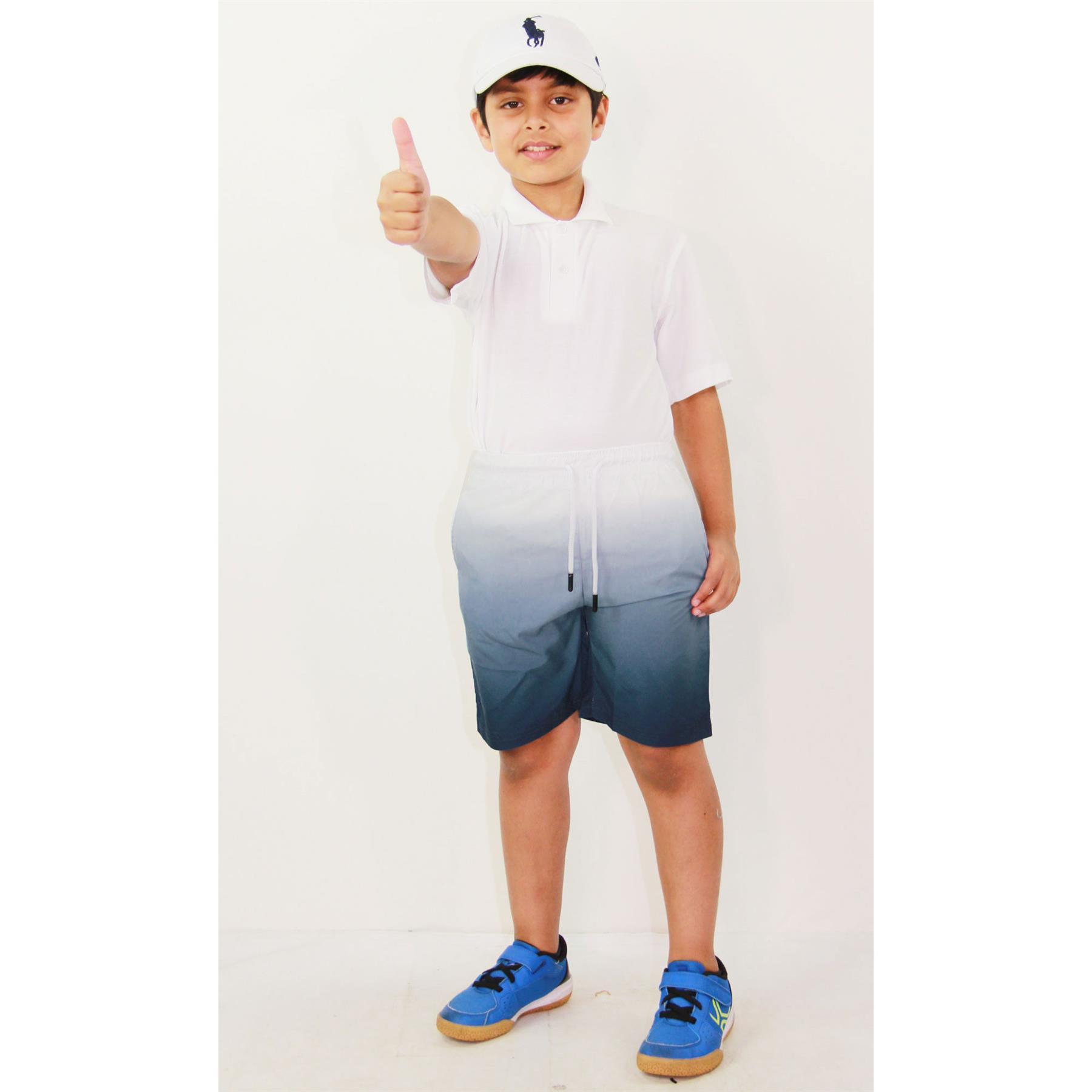 Boys New Grey Shorts Kids Summer Denim Jeans Knee Length Half Pants Age 8-16 Yrs