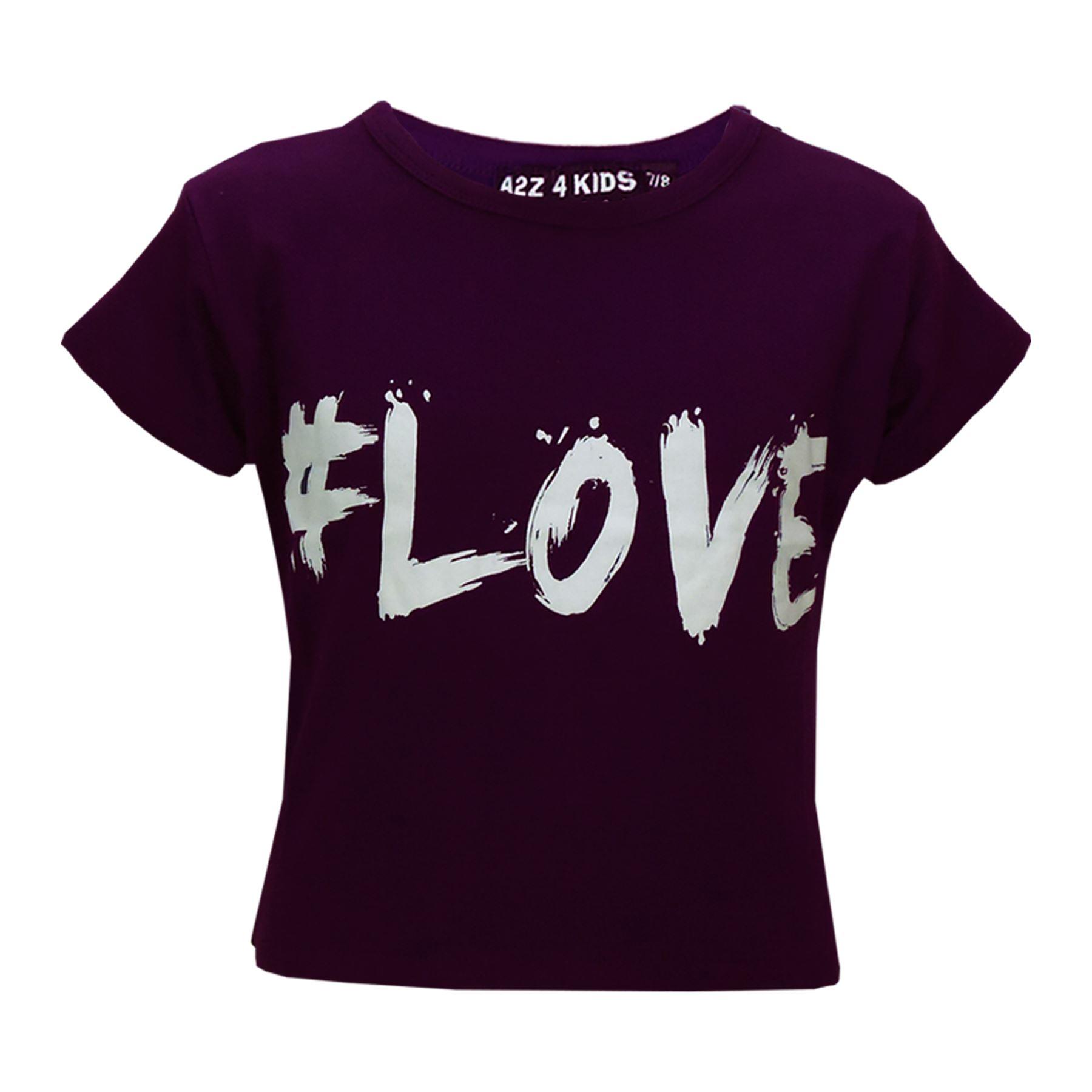 c028022b35 Girls Tops Kids Love Paris NYC  SELFIE Crop Top   Double Layer ...
