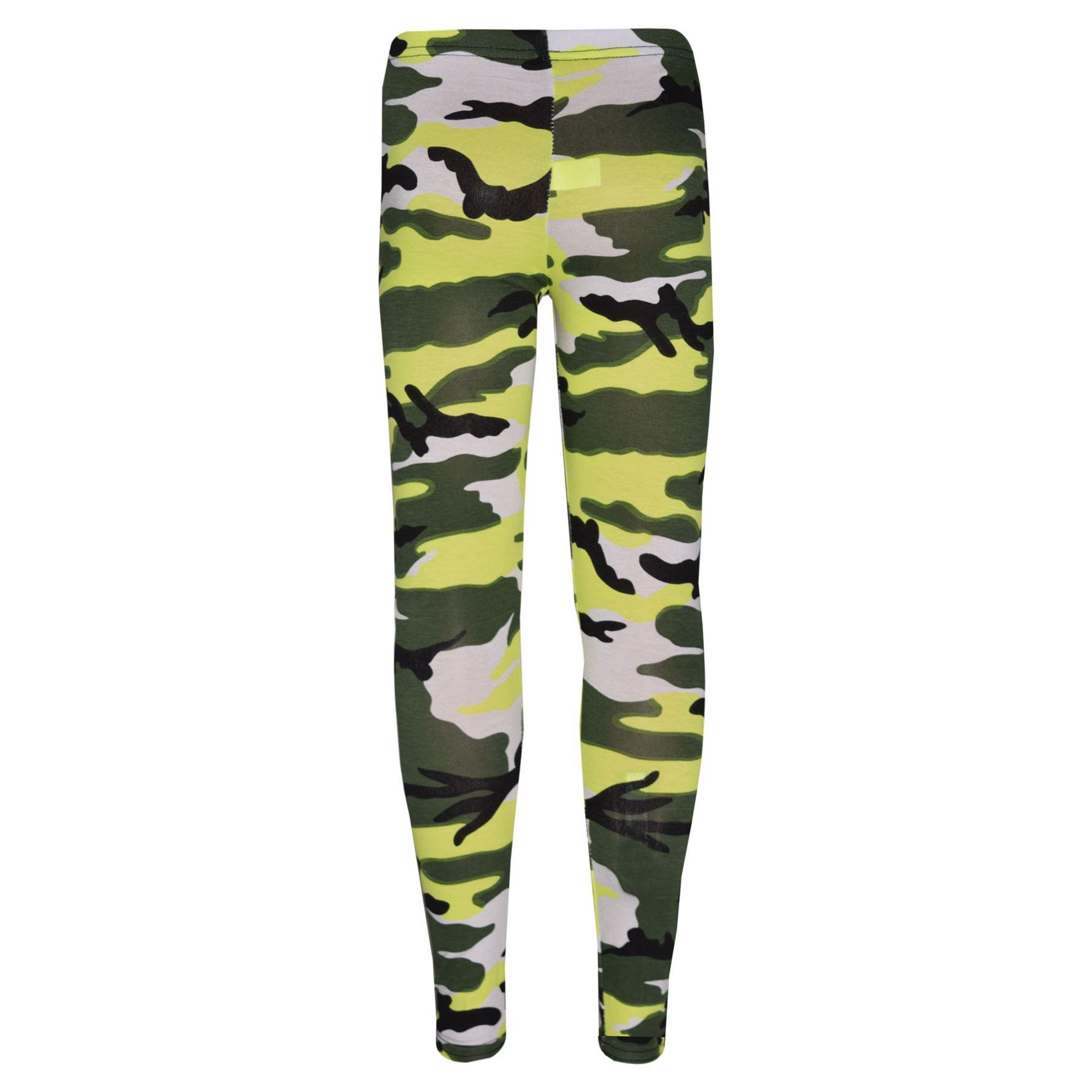 Girls-NEW-YORK-BROOKLYN-98-ATHLECTIC-Camouflage-Print-Top-amp-Legging-Set-7-13-Yr thumbnail 38