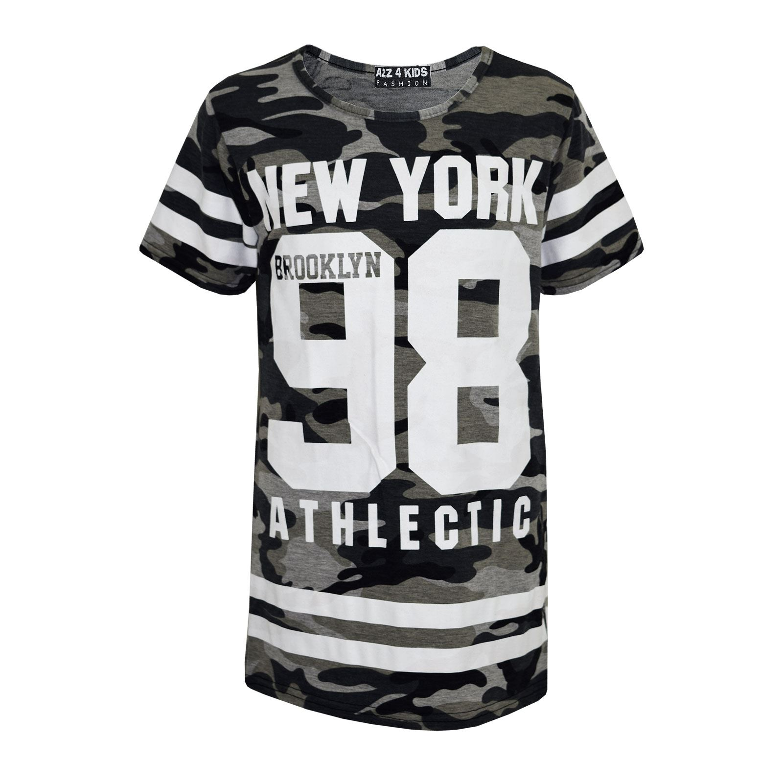 Girls-NEW-YORK-BROOKLYN-98-ATHLECTIC-Camouflage-Print-Top-amp-Legging-Set-7-13-Yr thumbnail 17