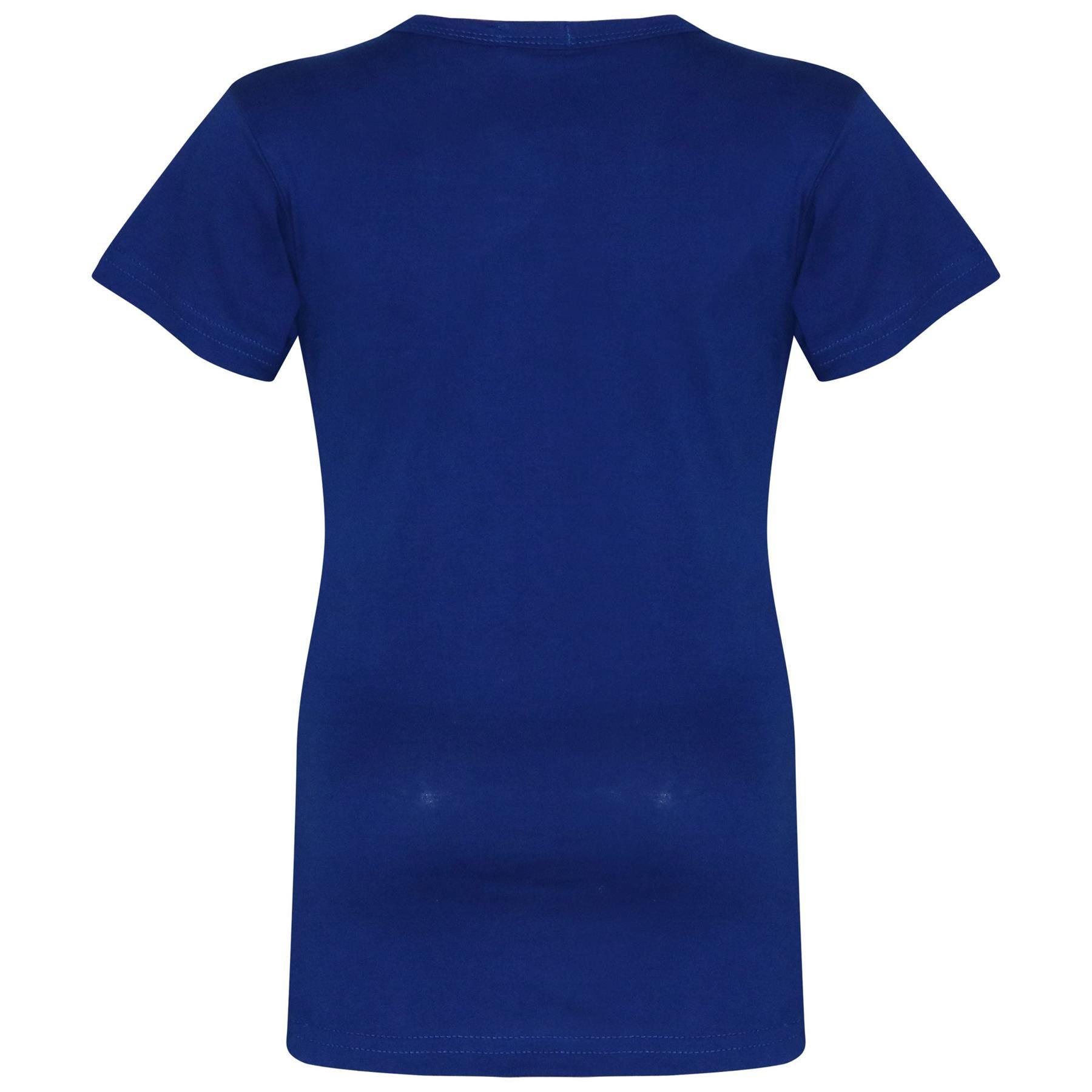 Kids-Girls-T-Shirts-Designer-100-Cotton-Plain-School-T-Shirt-Top-New-Age-3-13Yr thumbnail 36
