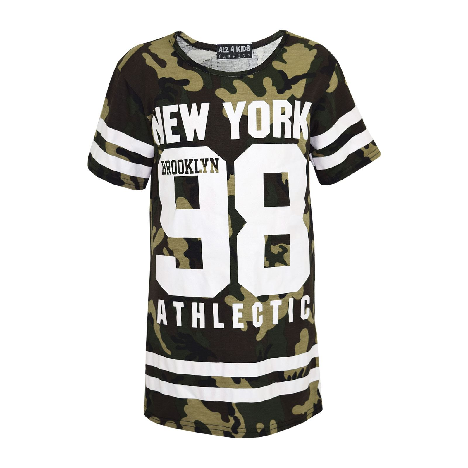 Girls-NEW-YORK-BROOKLYN-98-ATHLECTIC-Camouflage-Print-Top-amp-Legging-Set-7-13-Yr thumbnail 21