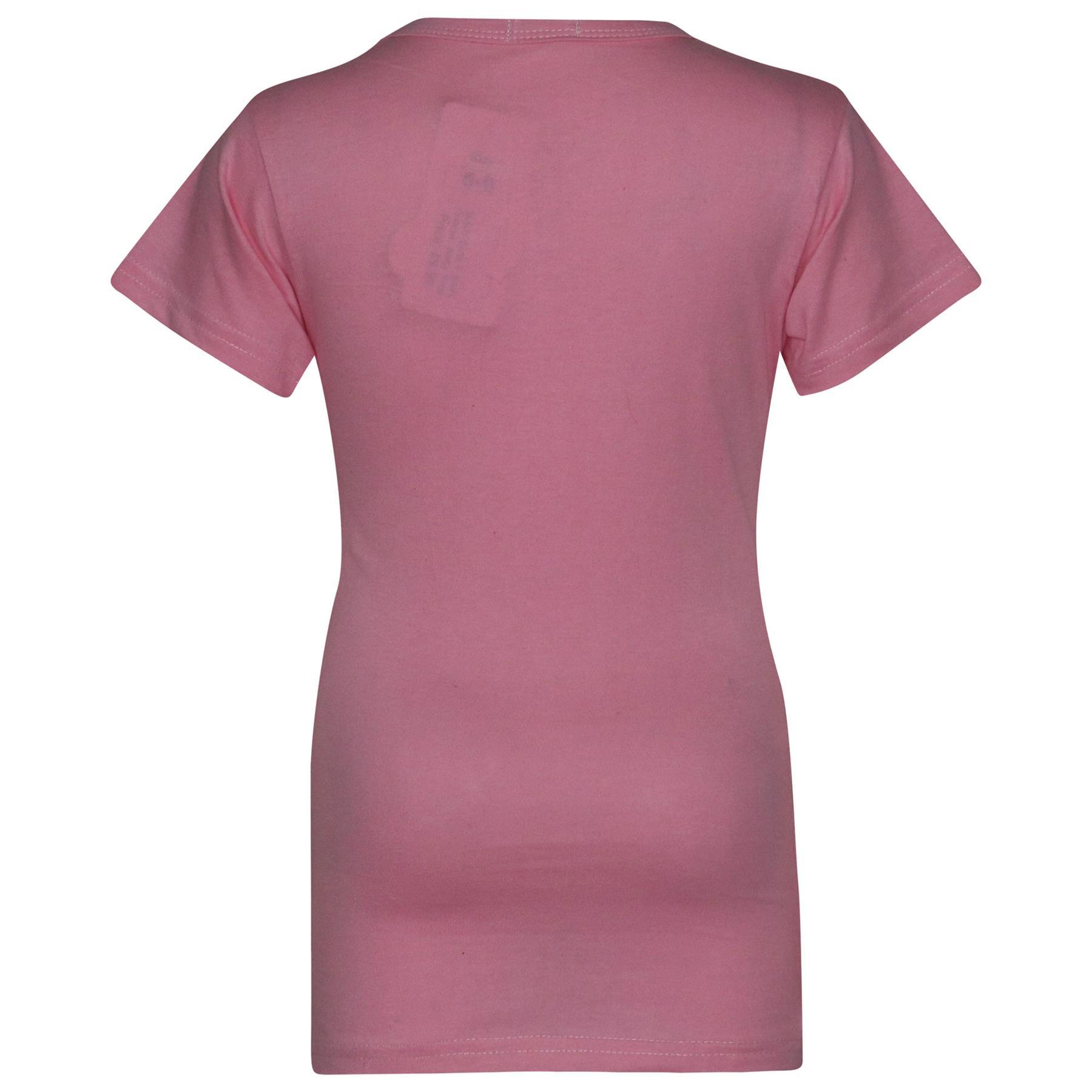 Kids-Girls-T-Shirts-Designer-100-Cotton-Plain-School-T-Shirt-Top-New-Age-3-13Yr thumbnail 6