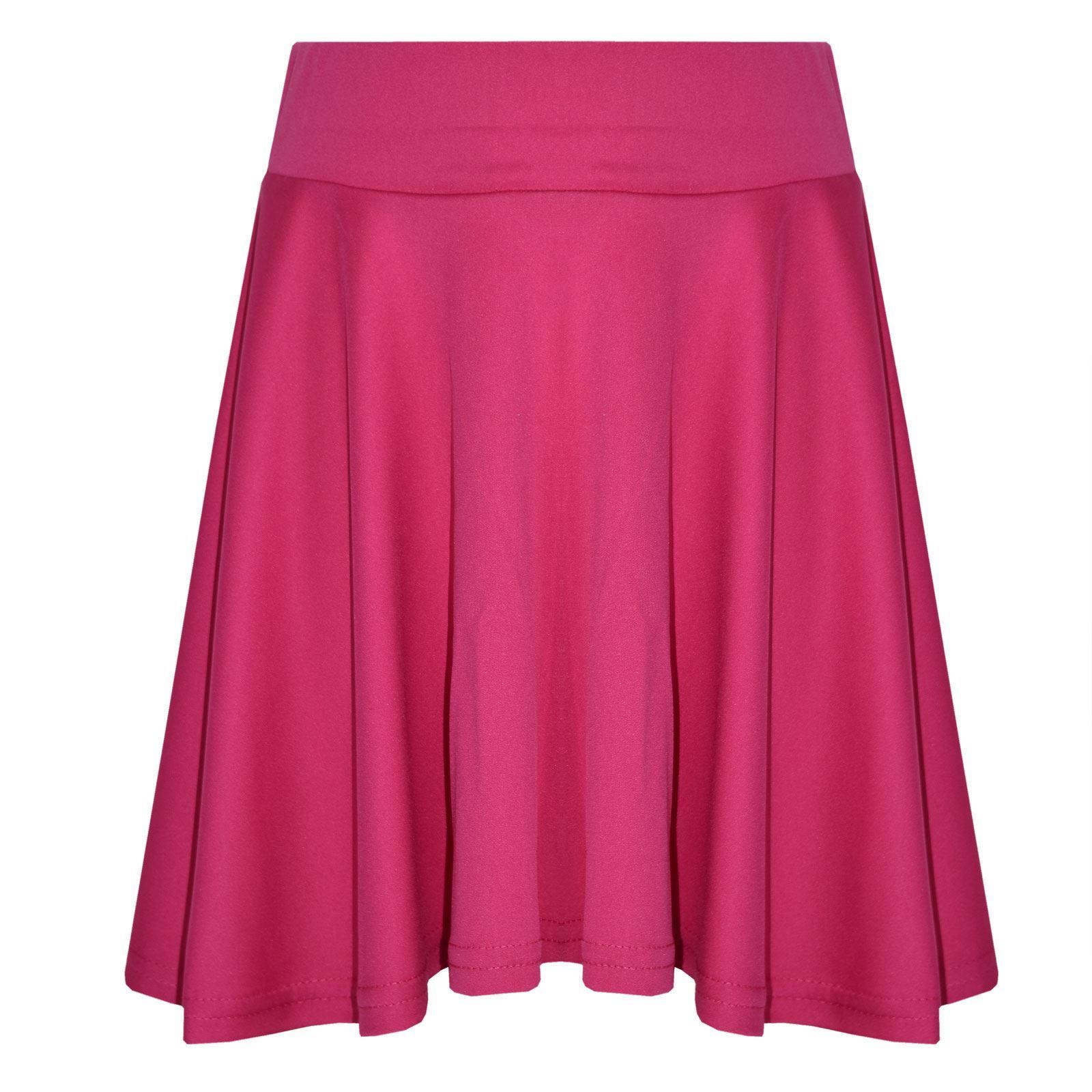 62ee0232c6d8e Girls Skater Skirt Kids Neon Bright Mini Fashion Skirts 7 8 9 10 11 ...