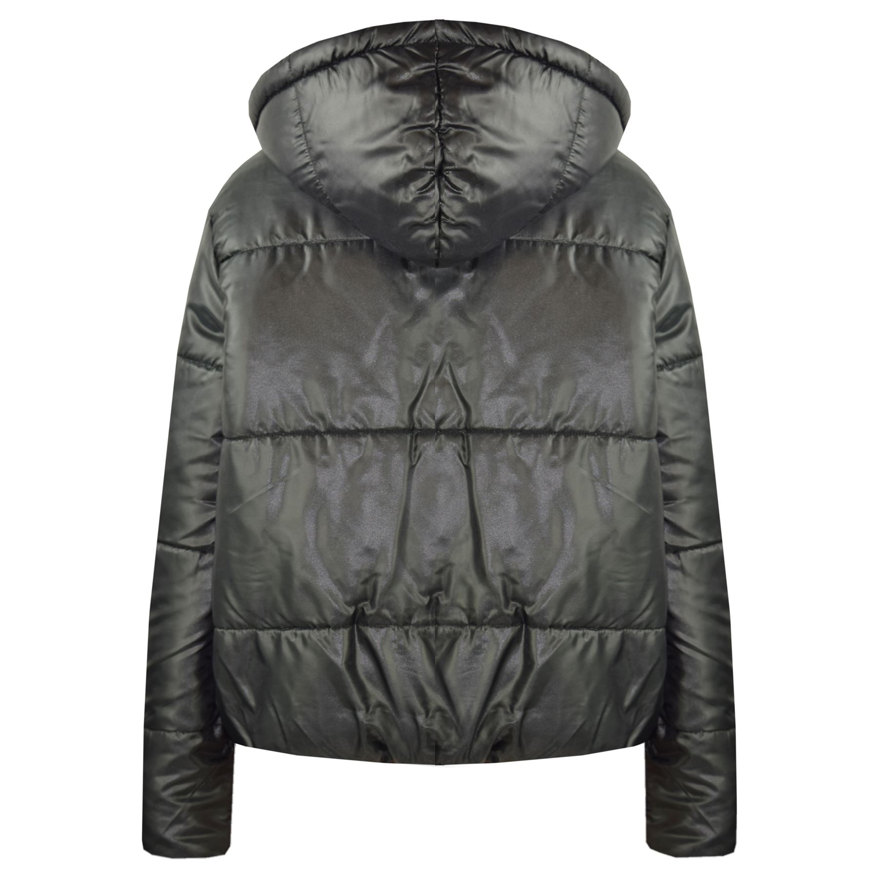 Girls Jackets Kids Reversible Cropped Hooded Padded Quilted Puffer Jacket Coats