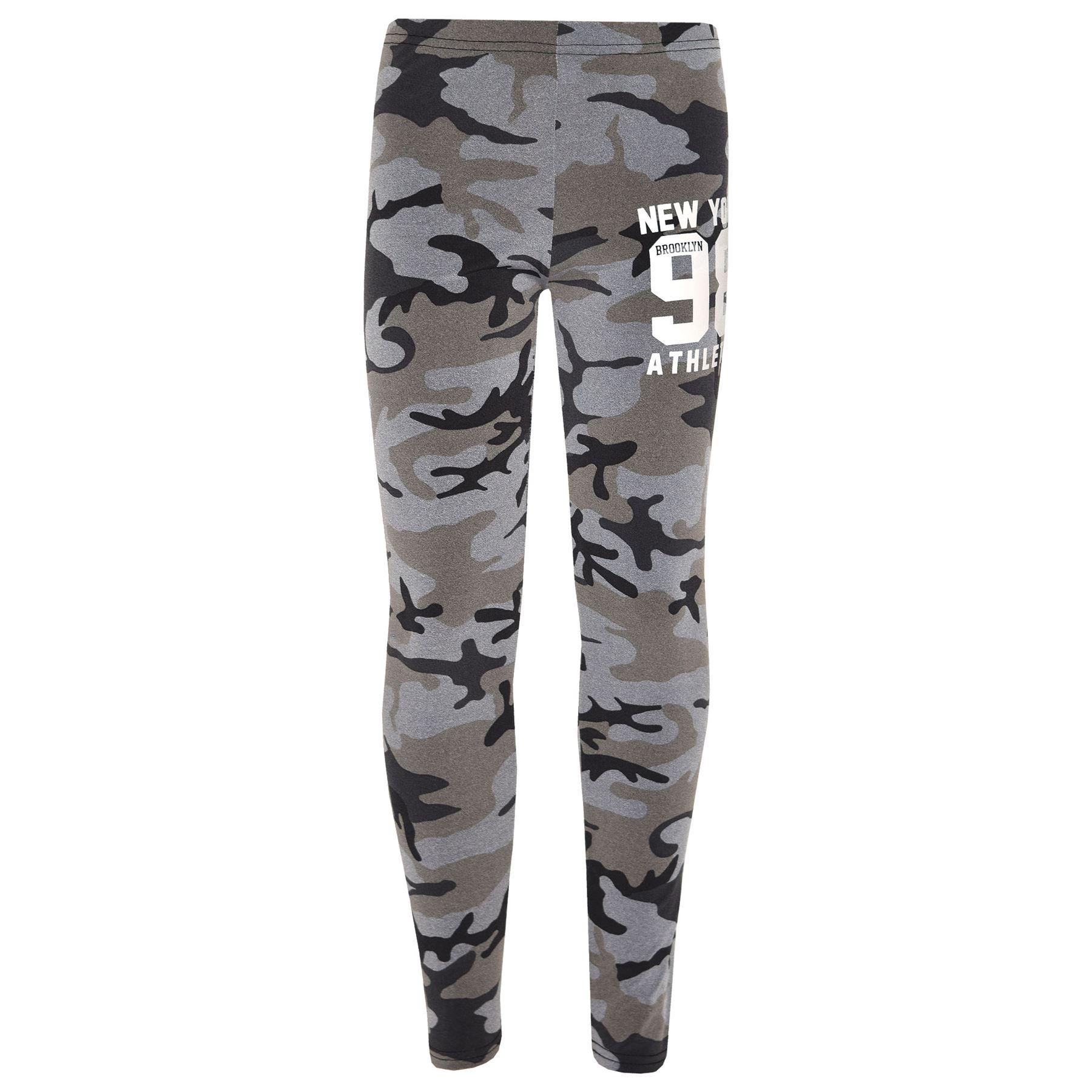 Girls-NEW-YORK-BROOKLYN-98-ATHLECTIC-Camouflage-Print-Top-amp-Legging-Set-7-13-Yr thumbnail 12