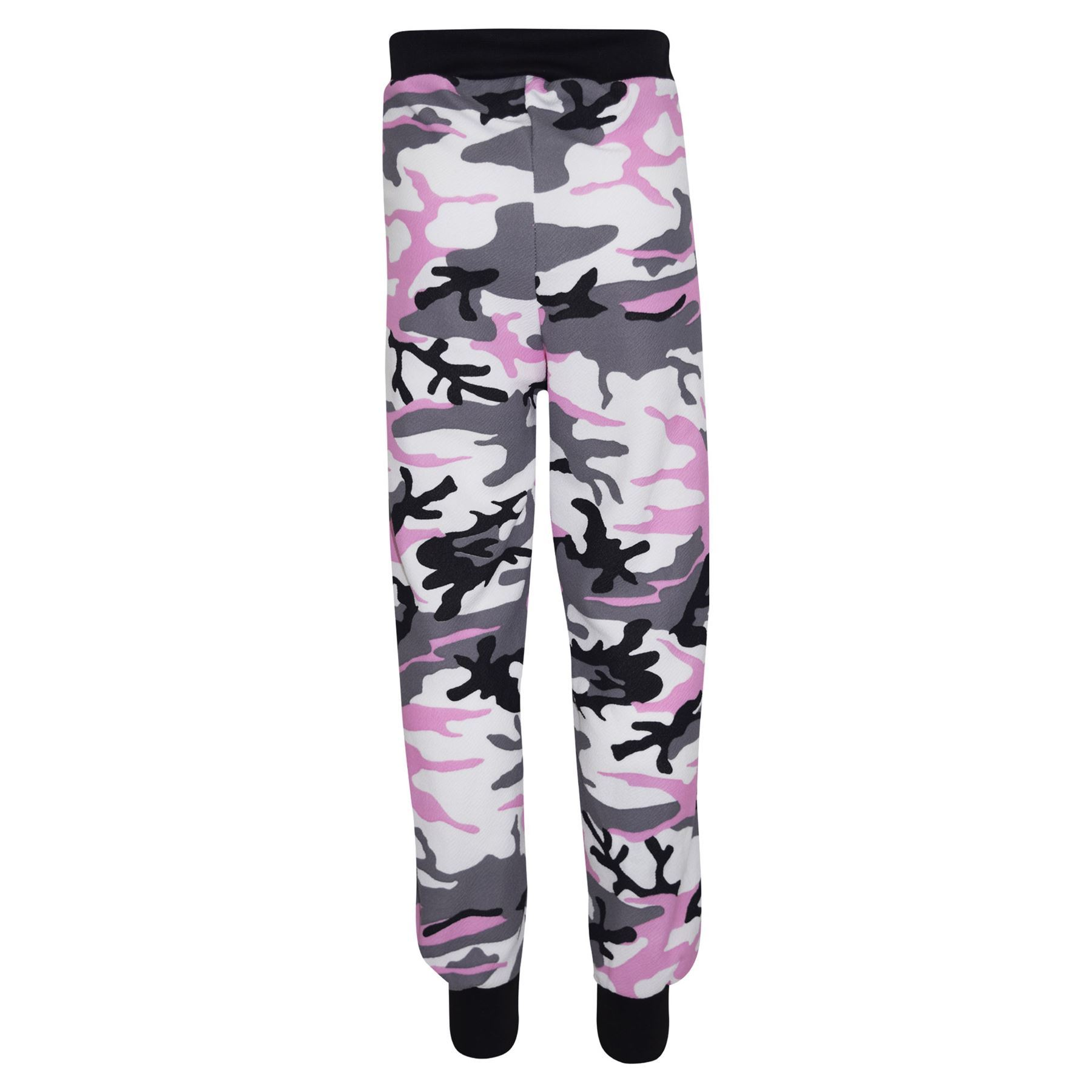Kids-Girls-Camouflage-Print-Crop-Top-Legging-Jacket-Tracksuit-Age-7-13-Years miniatuur 16
