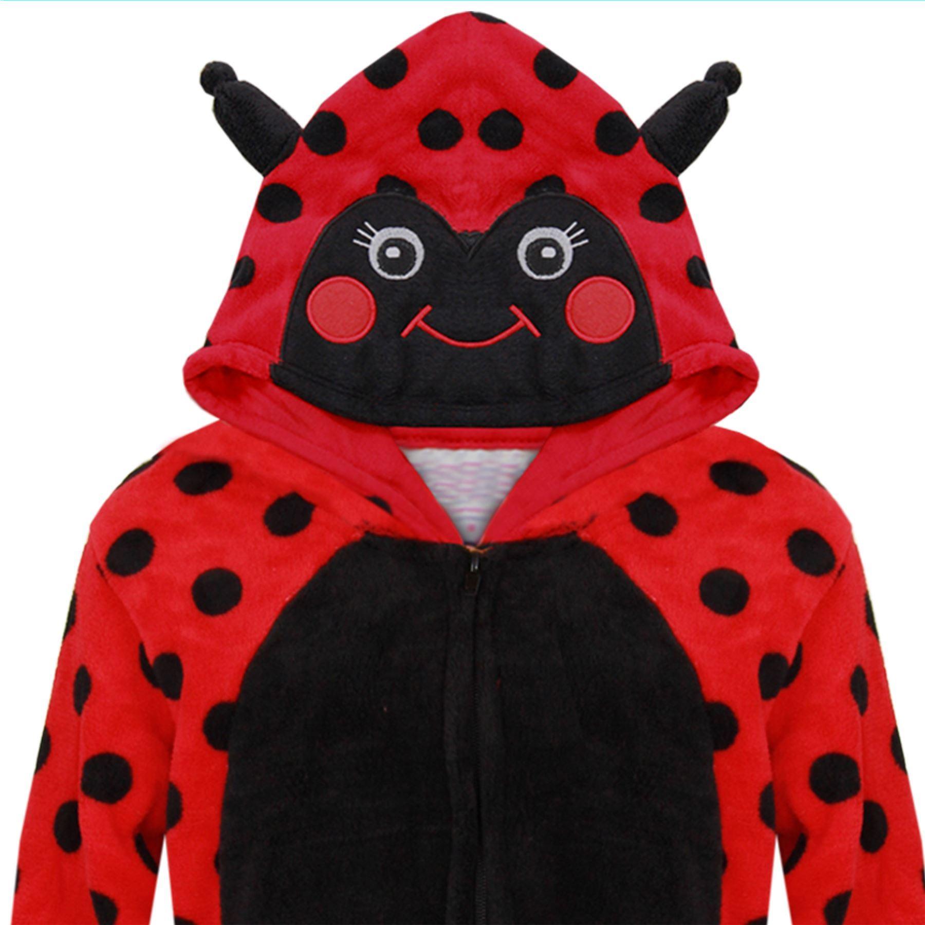 Kids-Girls-Boys-Soft-Fluffy-Animal-Monkey-A2Z-Onesie-One-Piece-Halloween-Costume miniatuur 28