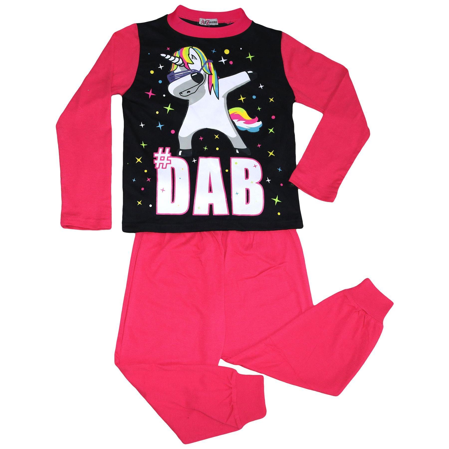 Enfants Filles Dabbing Licorne # DAB Rose Bébé Floss Pyjama Vêtement de Loisirs