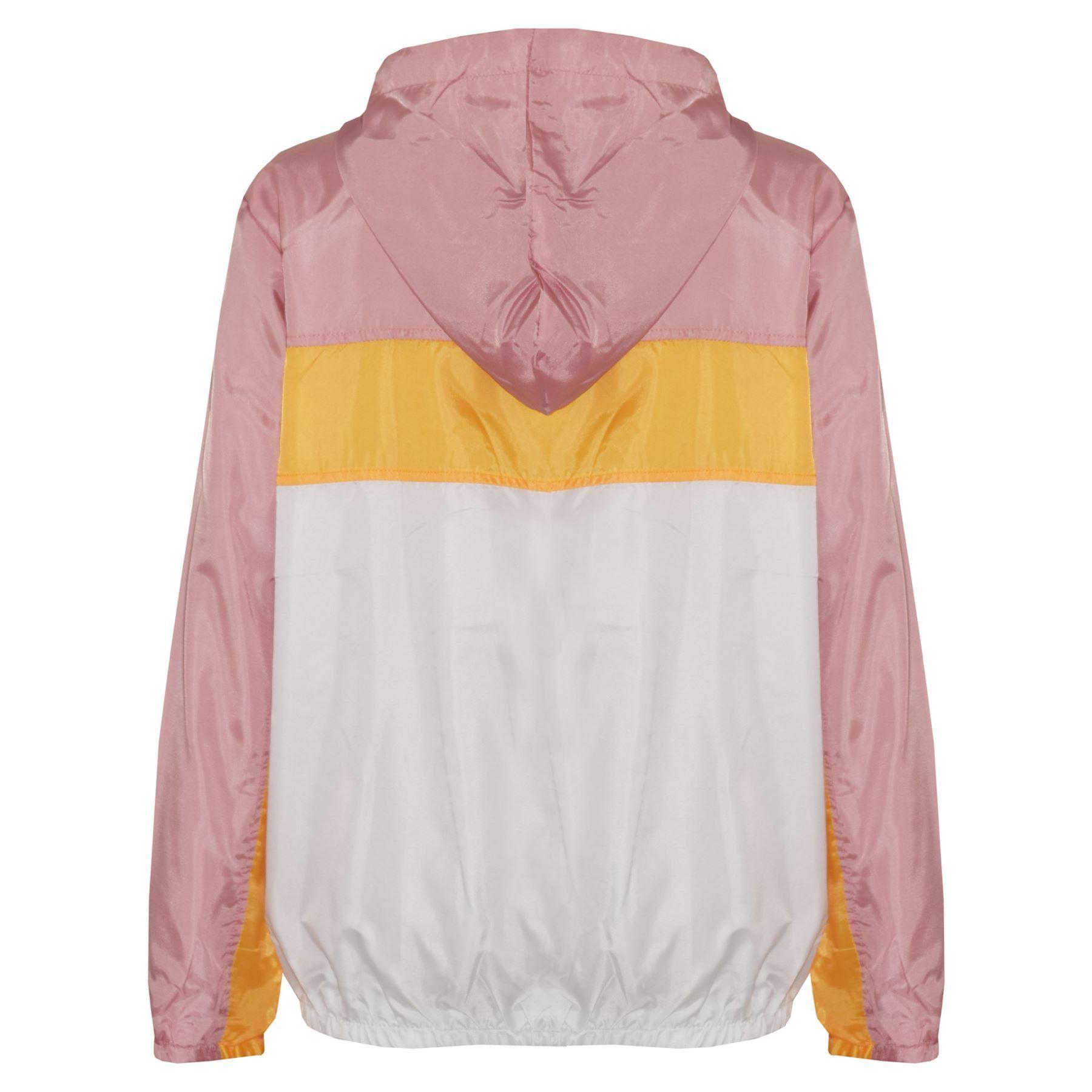 Kids-Boys-Girls-Windbreaker-Contrast-Block-Hooded-Jackets-Rain-Mac-Raincoat-5-13 thumbnail 3
