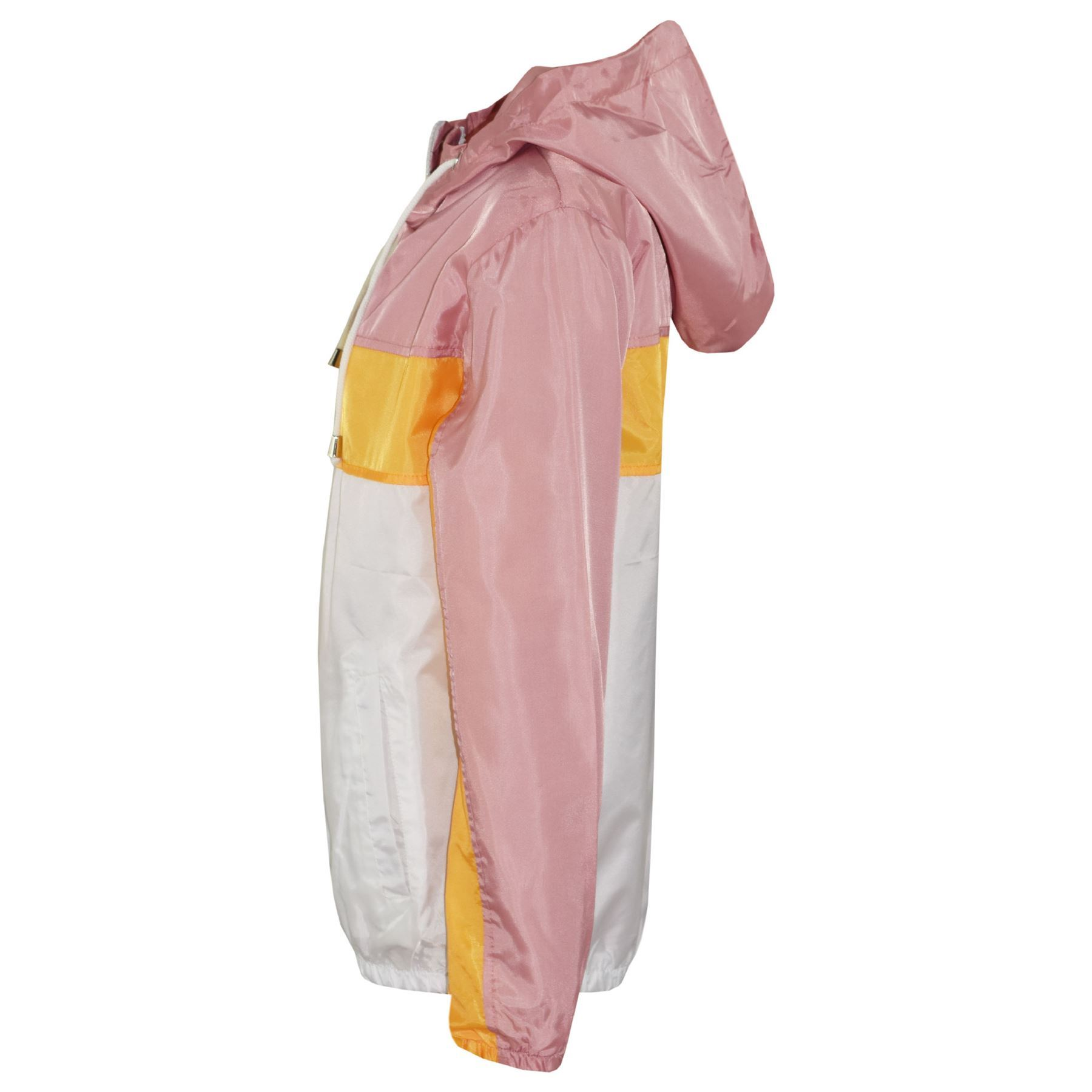 Kids-Boys-Girls-Windbreaker-Contrast-Block-Hooded-Jackets-Rain-Mac-Raincoat-5-13 thumbnail 4