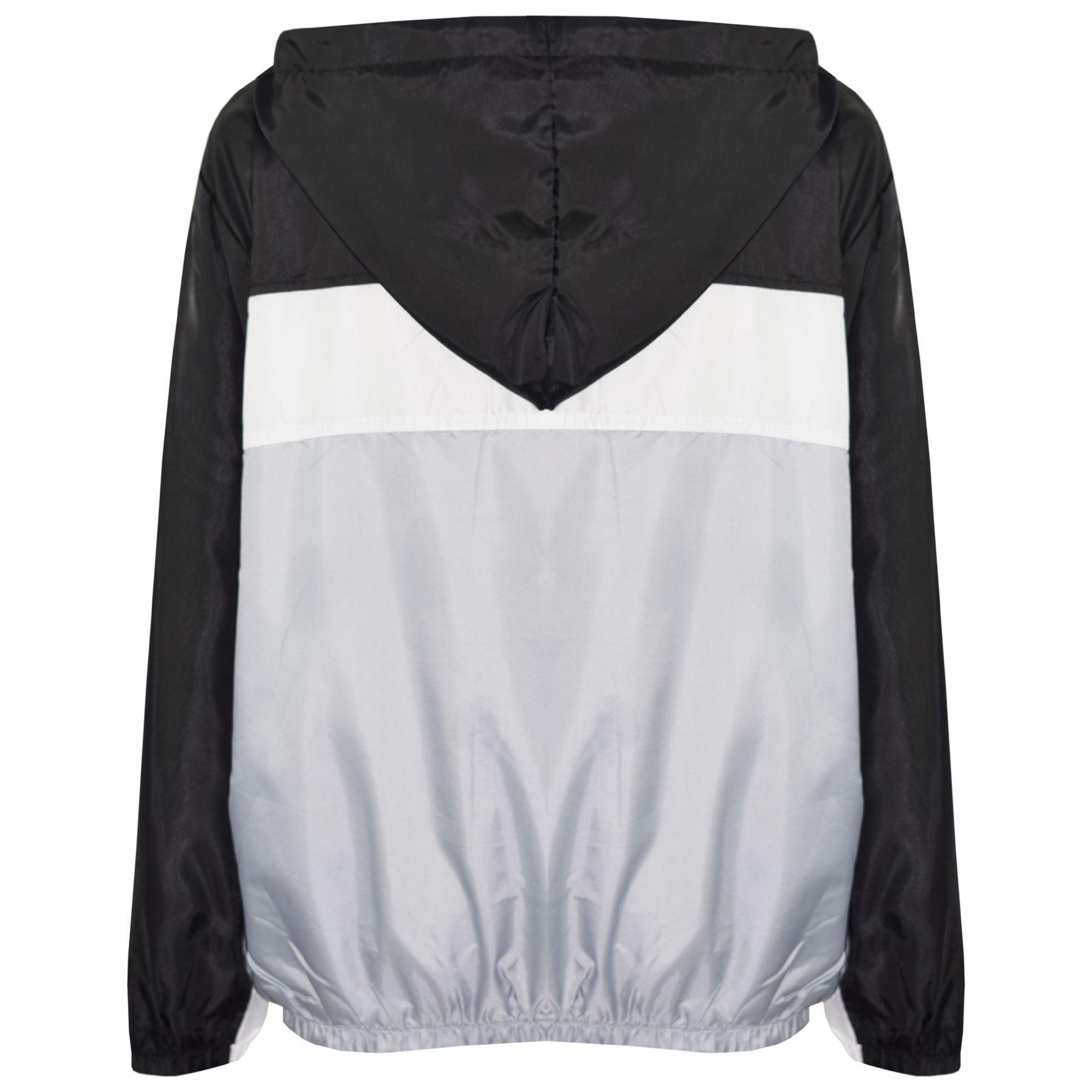 Kids-Boys-Girls-Windbreaker-Contrast-Block-Hooded-Jackets-Rain-Mac-Raincoat-5-13 thumbnail 6