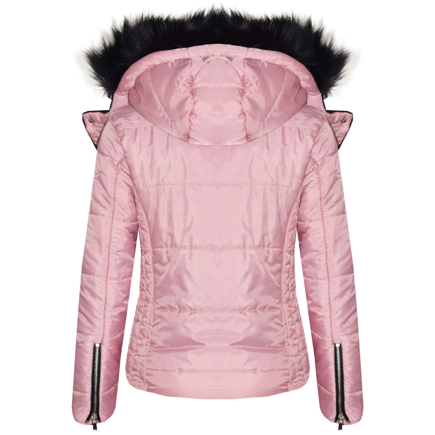 130795e39 Details about Kids Girls Jackets Pink Cropped Padded Puffer Bubble Fur  Collar Warm Thick Coats