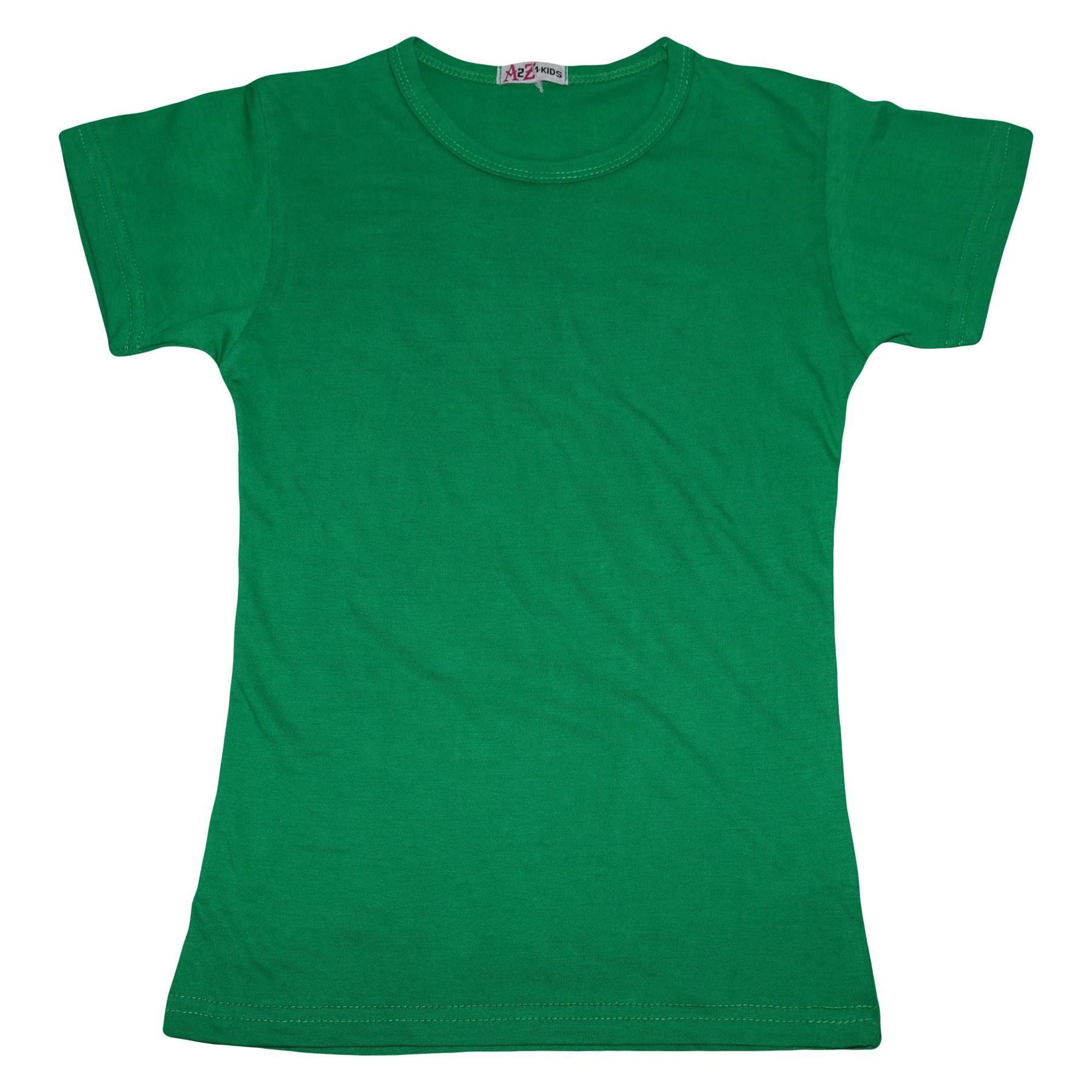 Kids-Girls-T-Shirts-Designer-100-Cotton-Plain-School-T-Shirt-Top-New-Age-3-13Yr thumbnail 17