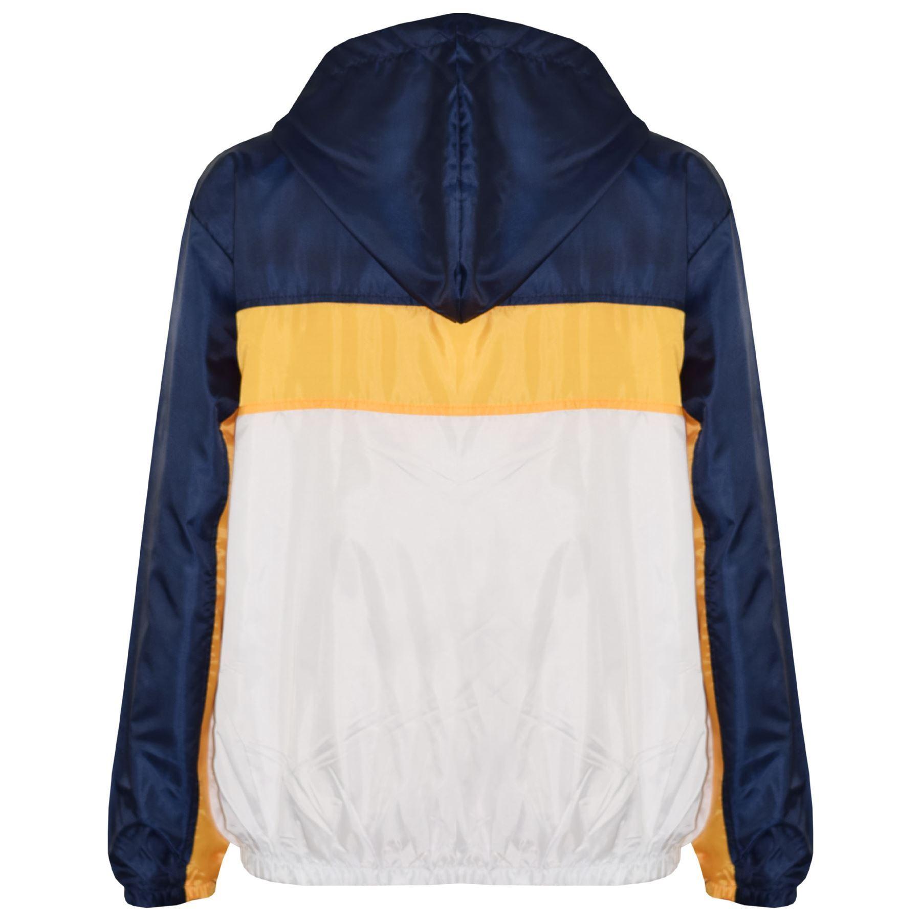 Kids-Boys-Girls-Windbreaker-Contrast-Block-Hooded-Jackets-Rain-Mac-Raincoat-5-13 thumbnail 9