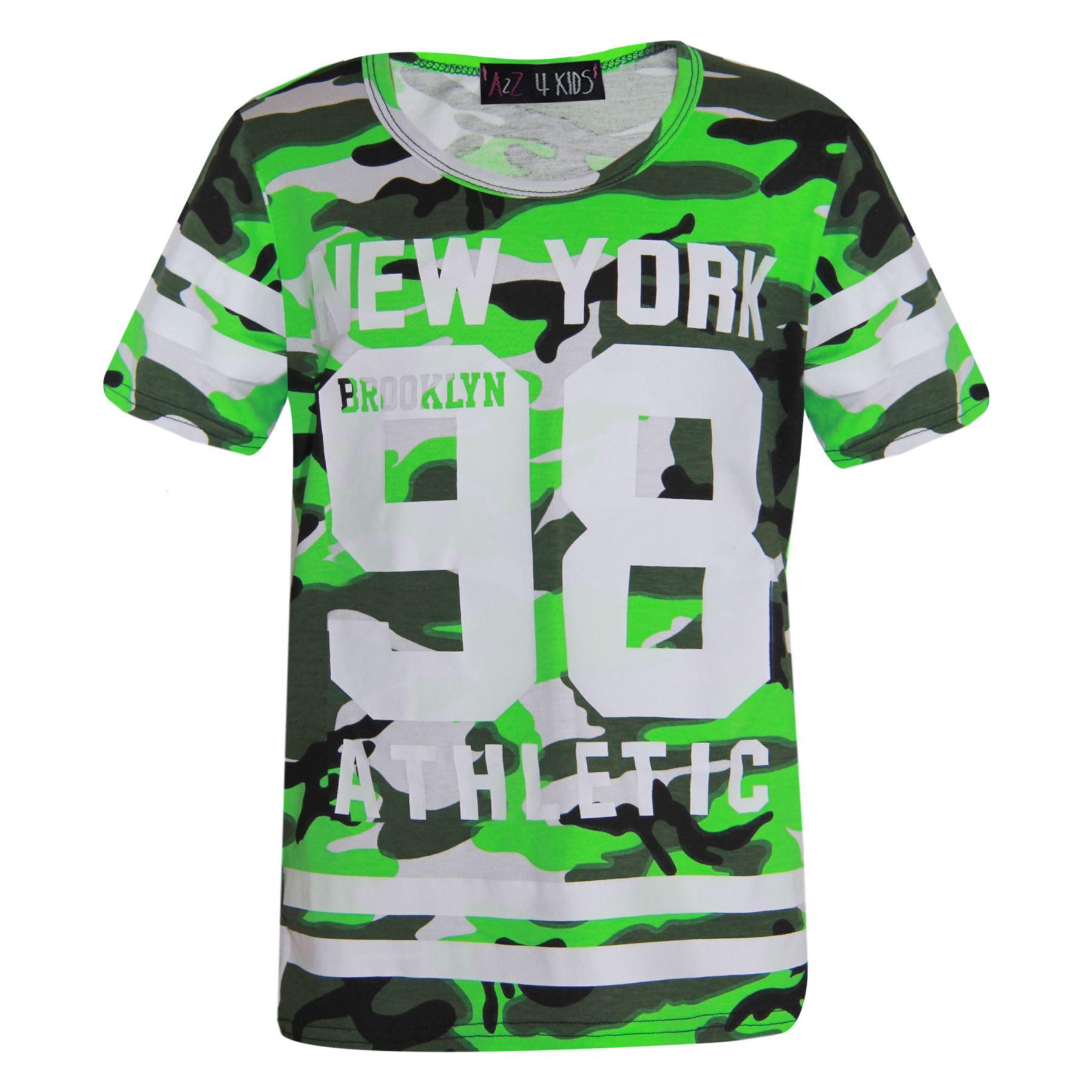 Girls-NEW-YORK-BROOKLYN-98-ATHLECTIC-Camouflage-Print-Top-amp-Legging-Set-7-13-Yr thumbnail 30