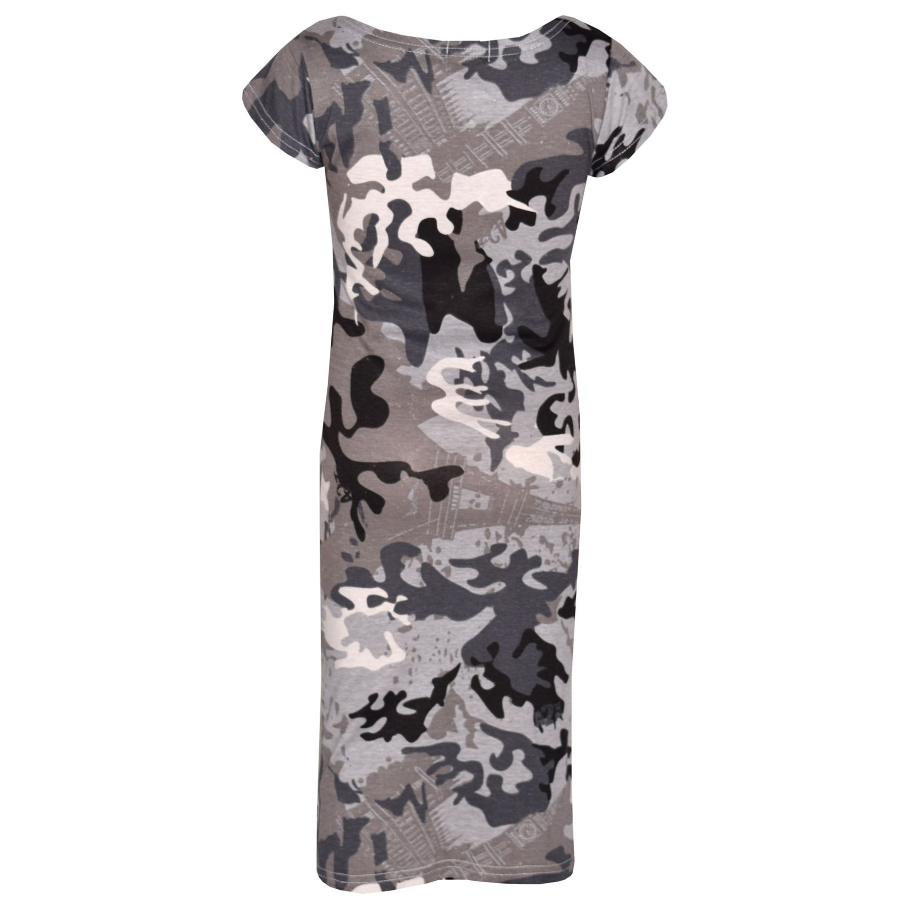 Girls-Dress-Kids-Camouflage-Print-Summer-Party-Bodycon-Midi-Dresses-5-13-Years thumbnail 5