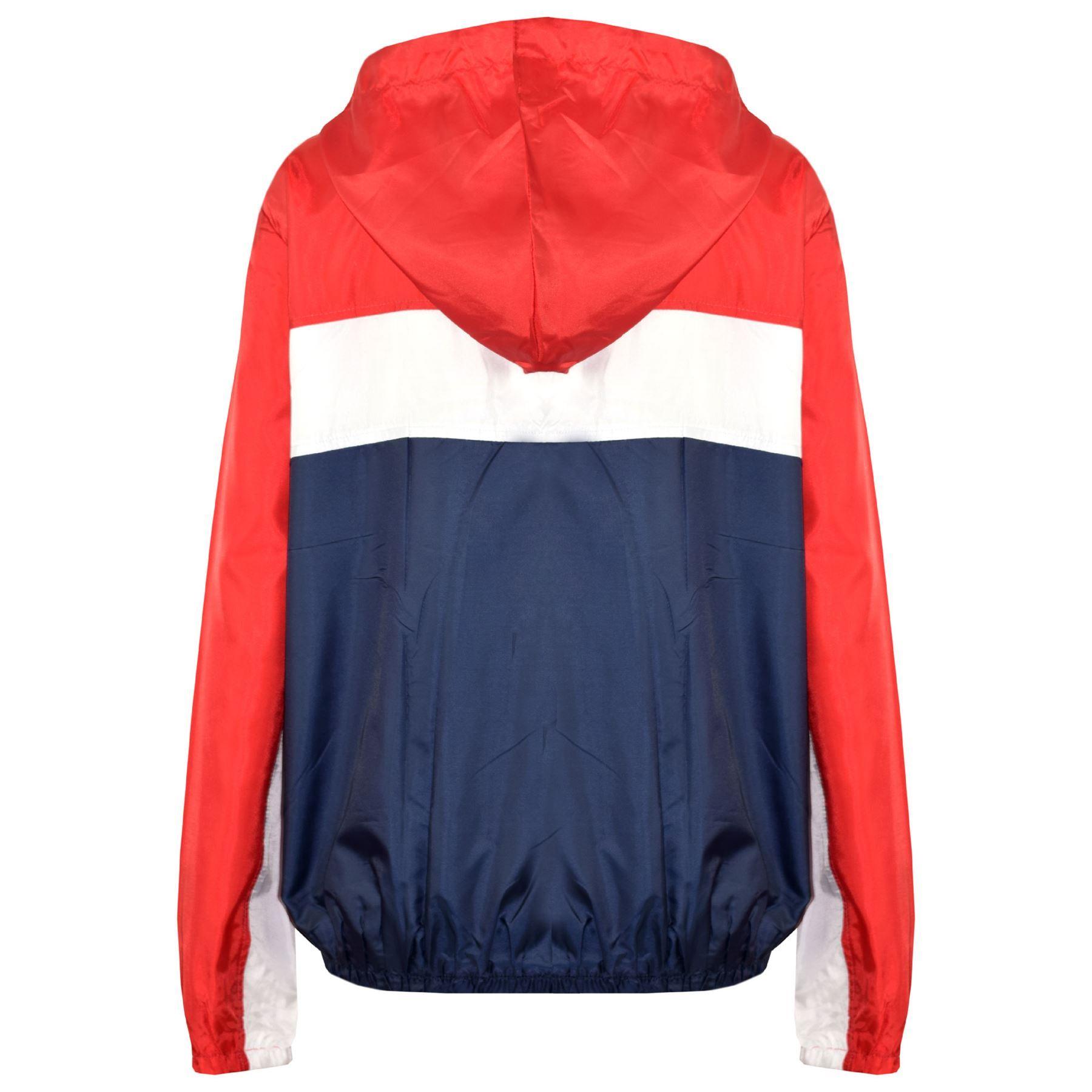Kids-Boys-Girls-Windbreaker-Contrast-Block-Hooded-Jackets-Rain-Mac-Raincoat-5-13 thumbnail 15