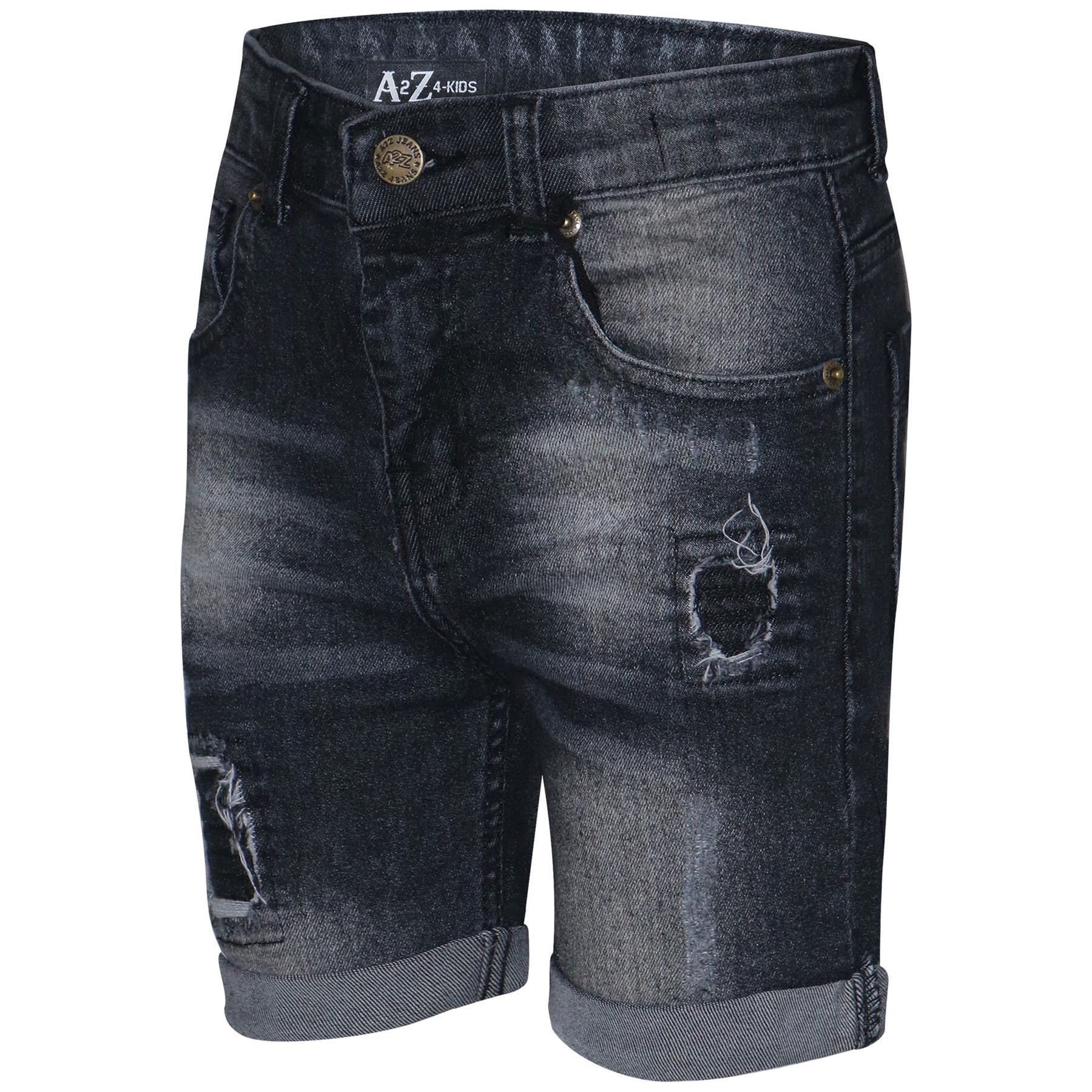 baratas para descuento 4e20d dee5d Detalles de Niños Chicos Pantalones Cortos Jeans Denim Rasgado chino  Bermudas Corto Hasta La Rodilla edad 5-13 años- ver título original