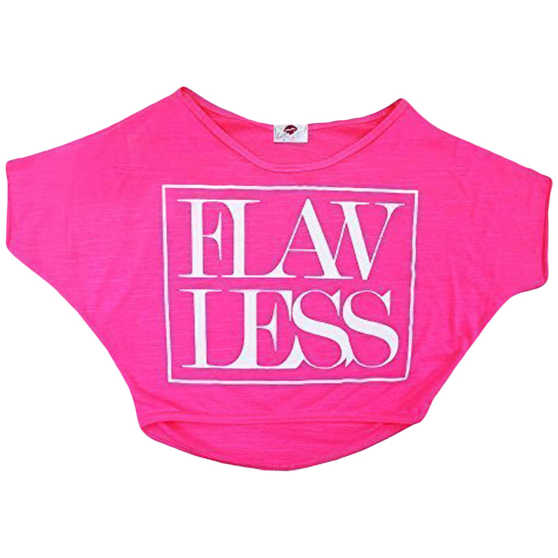 Kids-Girls-New-Season-034-FLAWLESS-034-Print-Crop-Top-Stylish-Fashion-T-Shirt-Age-7-13 miniatuur 13