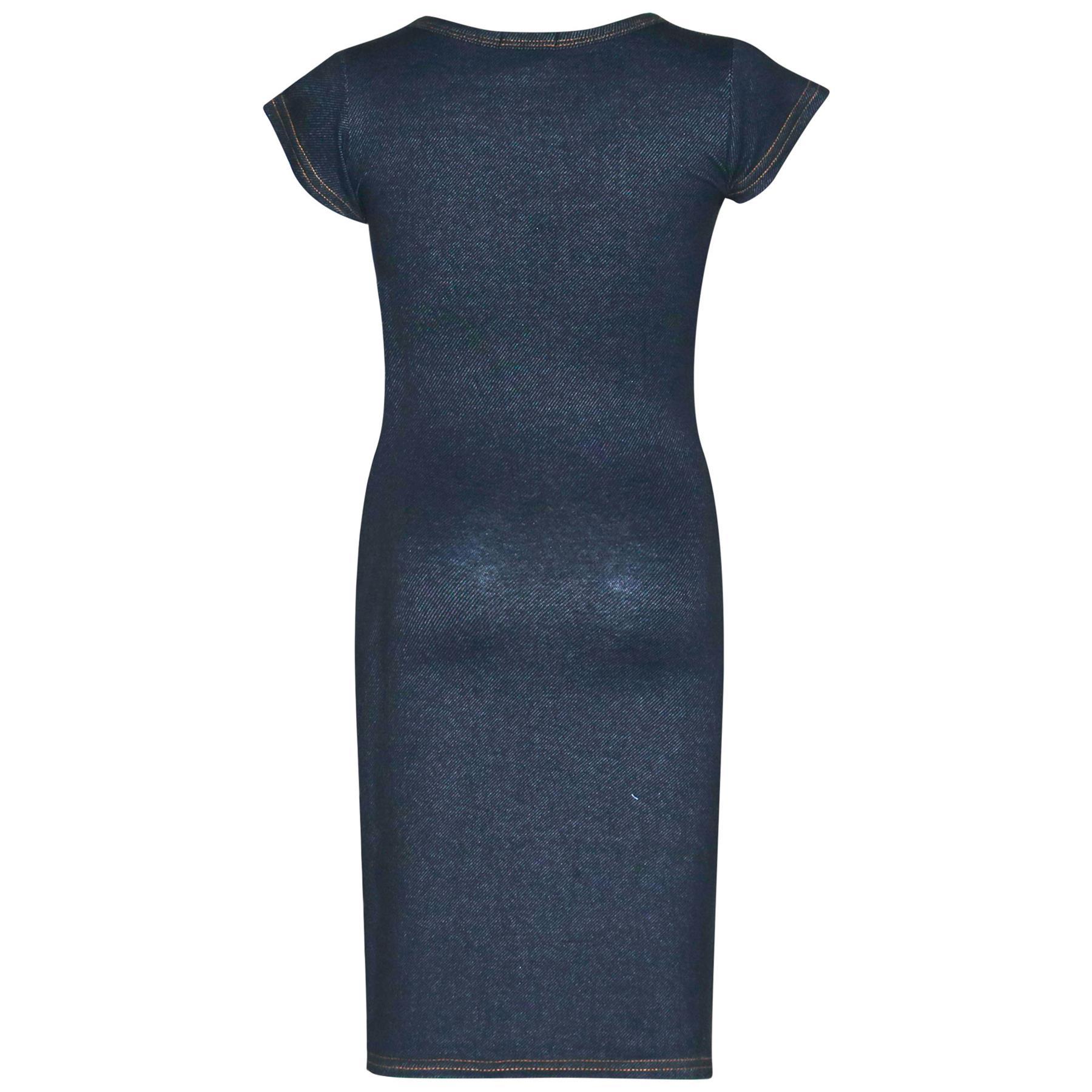 Gilrs Midi Dress Kids 100/% Polyester Plain Bodycon Fashion Dresses Age 5-13 Year