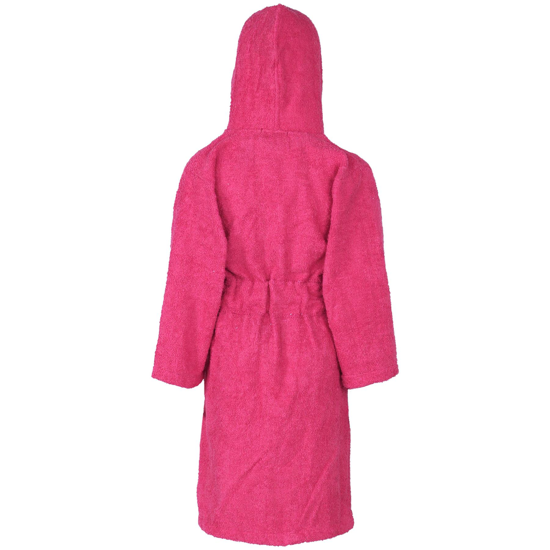 Kids Girls Boys 100/% Cotton Soft Terry Hooded Bathrobe Luxury Dressing Gown 5-13