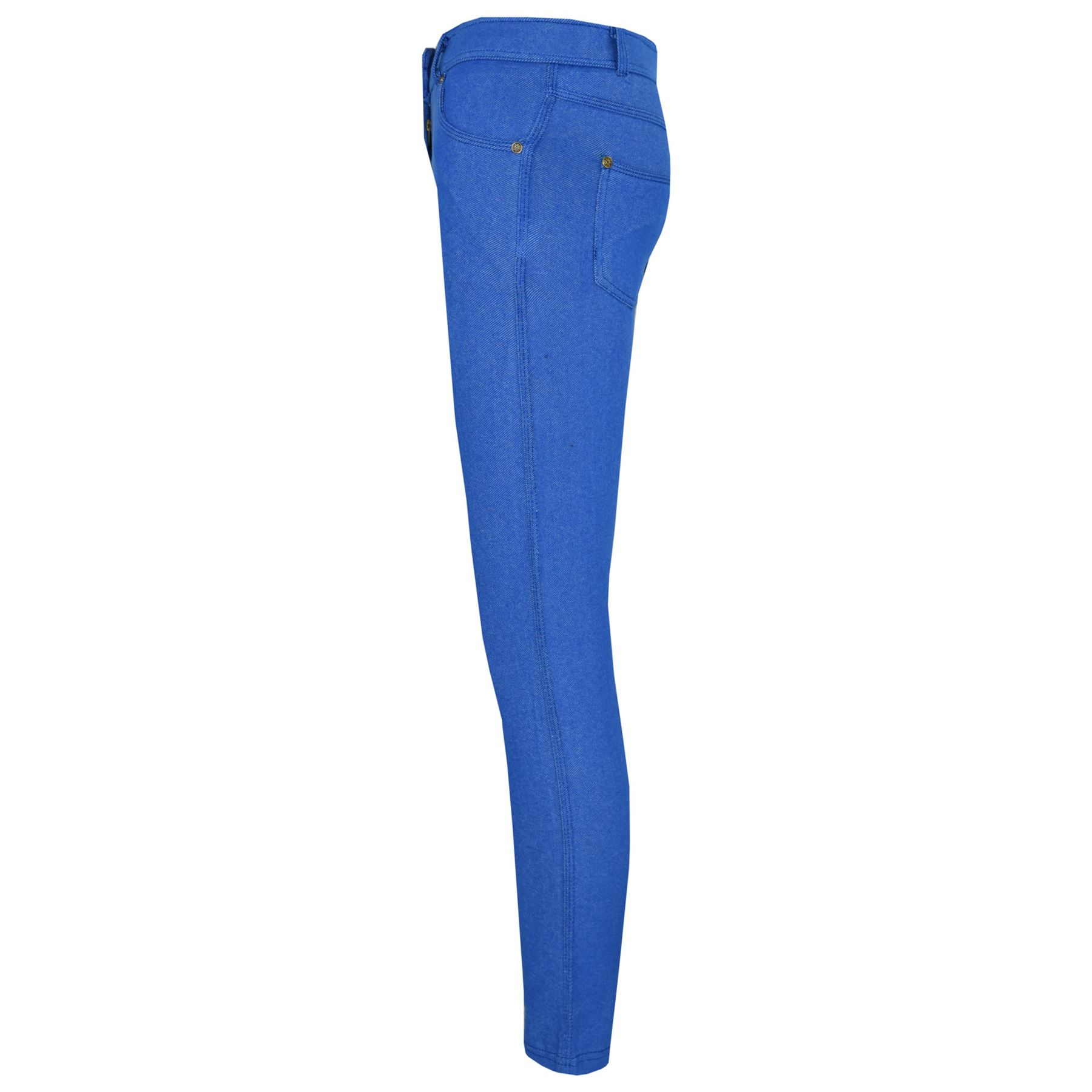 Girls-Skinny-Jeans-Kids-Denim-Stretchy-Jeggings-Pants-Coloured-Trousers-5-13-Yr