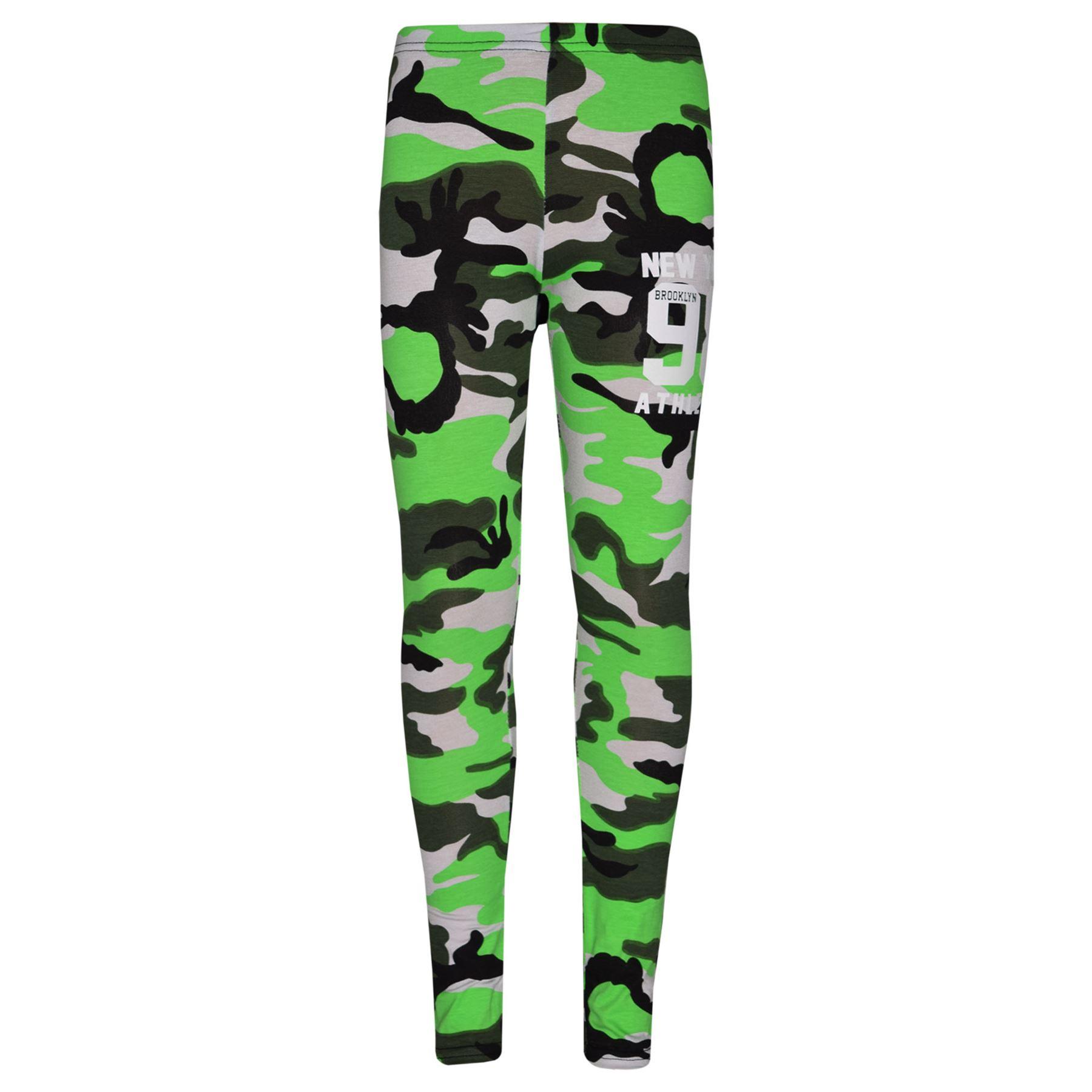 Girls-NEW-YORK-BROOKLYN-98-ATHLECTIC-Camouflage-Print-Top-amp-Legging-Set-7-13-Yr thumbnail 29