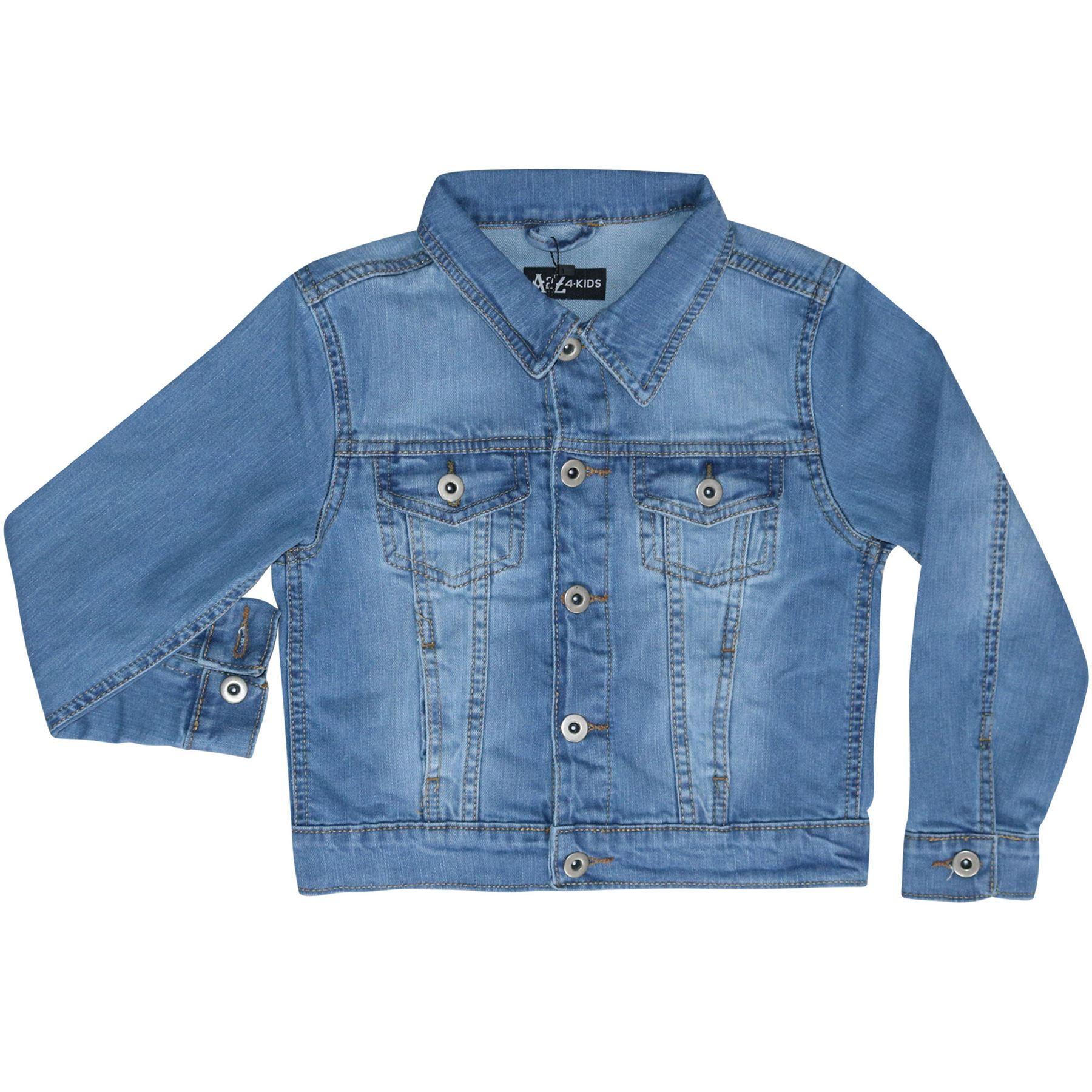 Bambini Ragazzi Designer giacche In Jeans Denim Blu Moda Giacca cappotto NEW AGE 3-13 ANNO