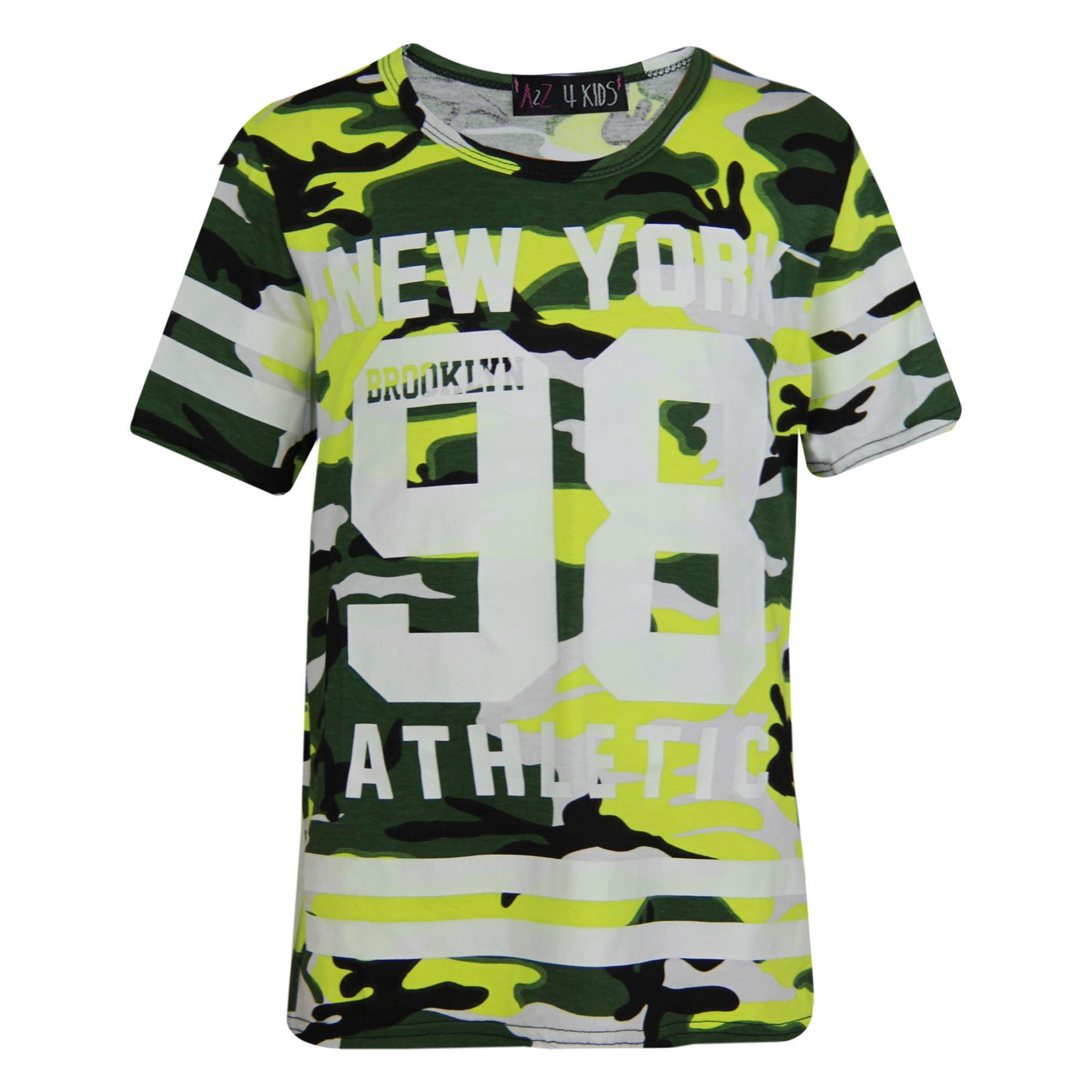 Girls-NEW-YORK-BROOKLYN-98-ATHLECTIC-Camouflage-Print-Top-amp-Legging-Set-7-13-Yr thumbnail 37