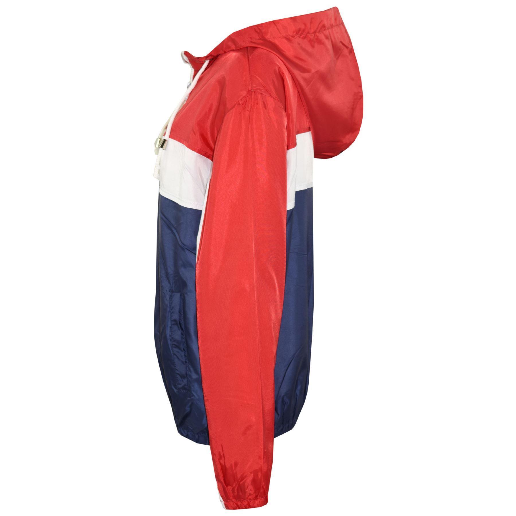 Kids-Boys-Girls-Windbreaker-Contrast-Block-Hooded-Jackets-Rain-Mac-Raincoat-5-13 thumbnail 16