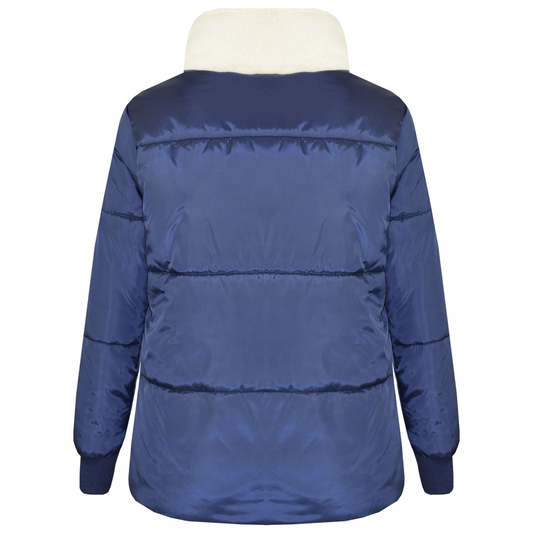 ed39c8f20 Kids Girls Boys Parka Jacket Zipped Padded School Jackets Outwear ...