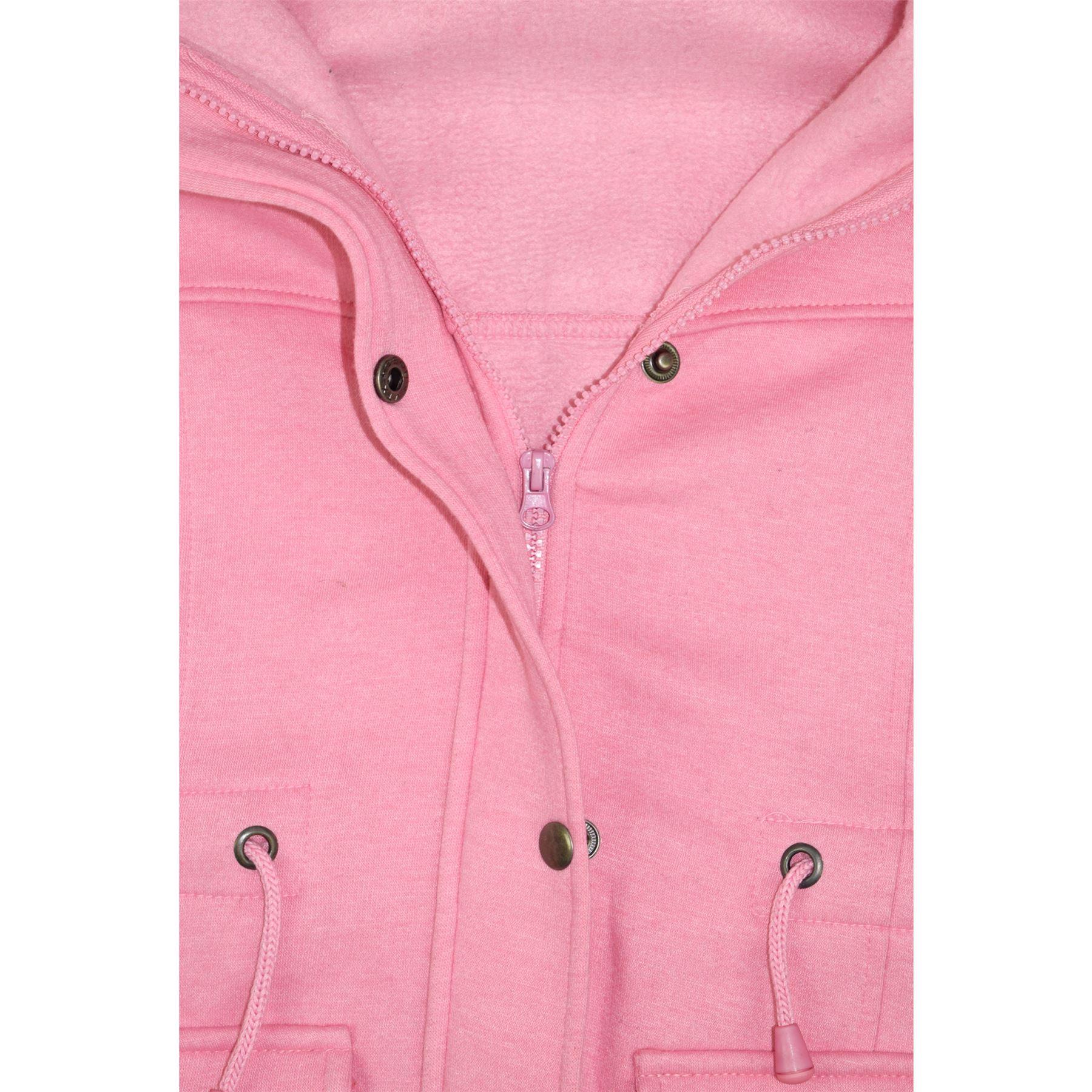 48f775a39d695 Kids Girls Coat Fleece Parka Jacket Long Faux Fur Hooded Winter ...