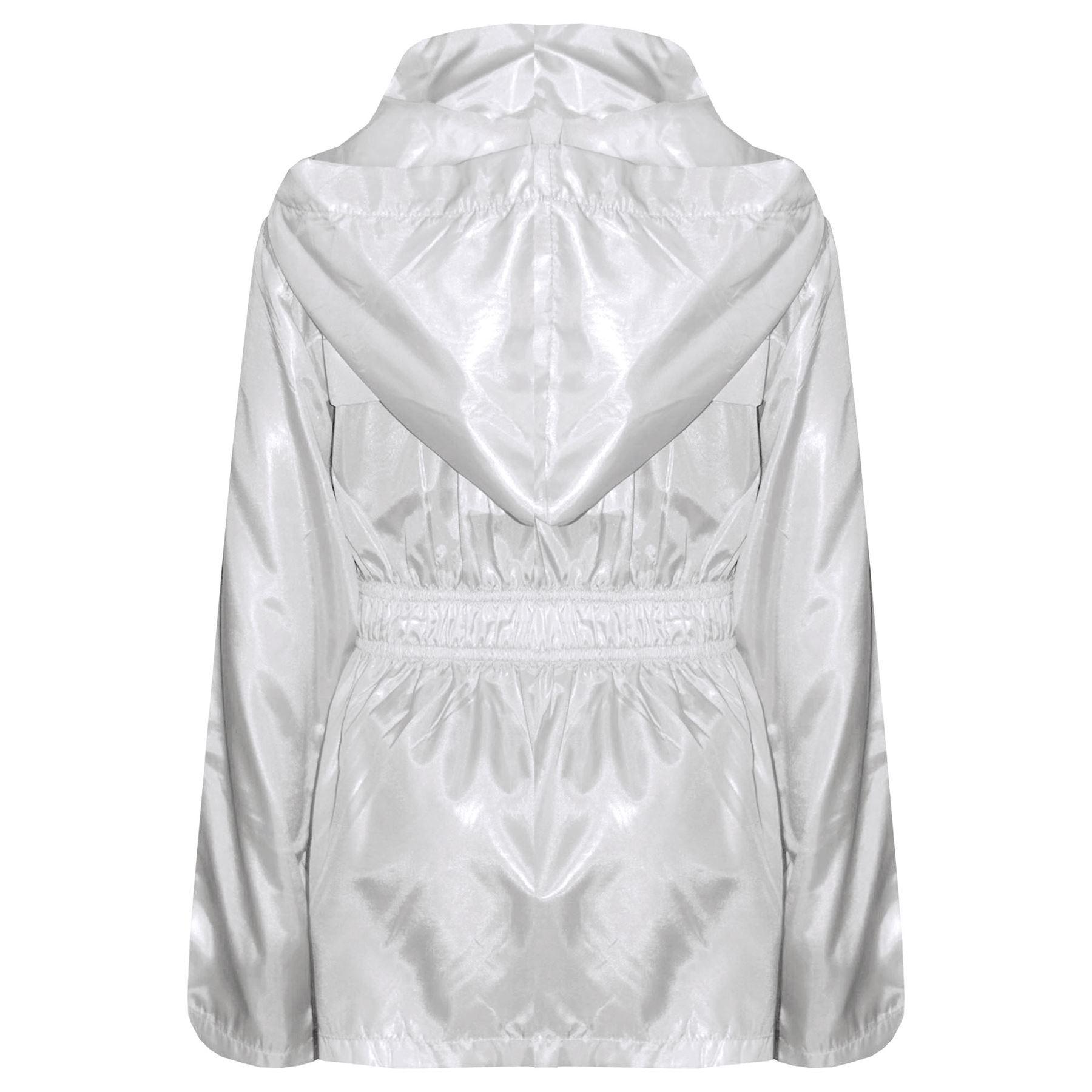 badfb7301e22 Girls Boys Raincoats Jackets Kids Lightweight Hooded Cagoule Rain ...