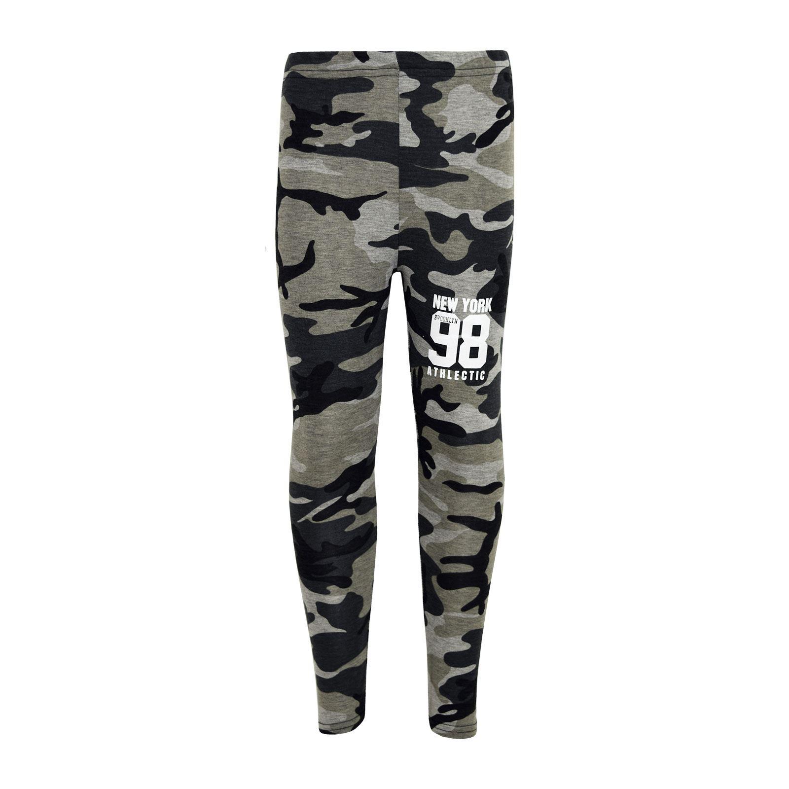 Girls-NEW-YORK-BROOKLYN-98-ATHLECTIC-Camouflage-Print-Top-amp-Legging-Set-7-13-Yr thumbnail 18