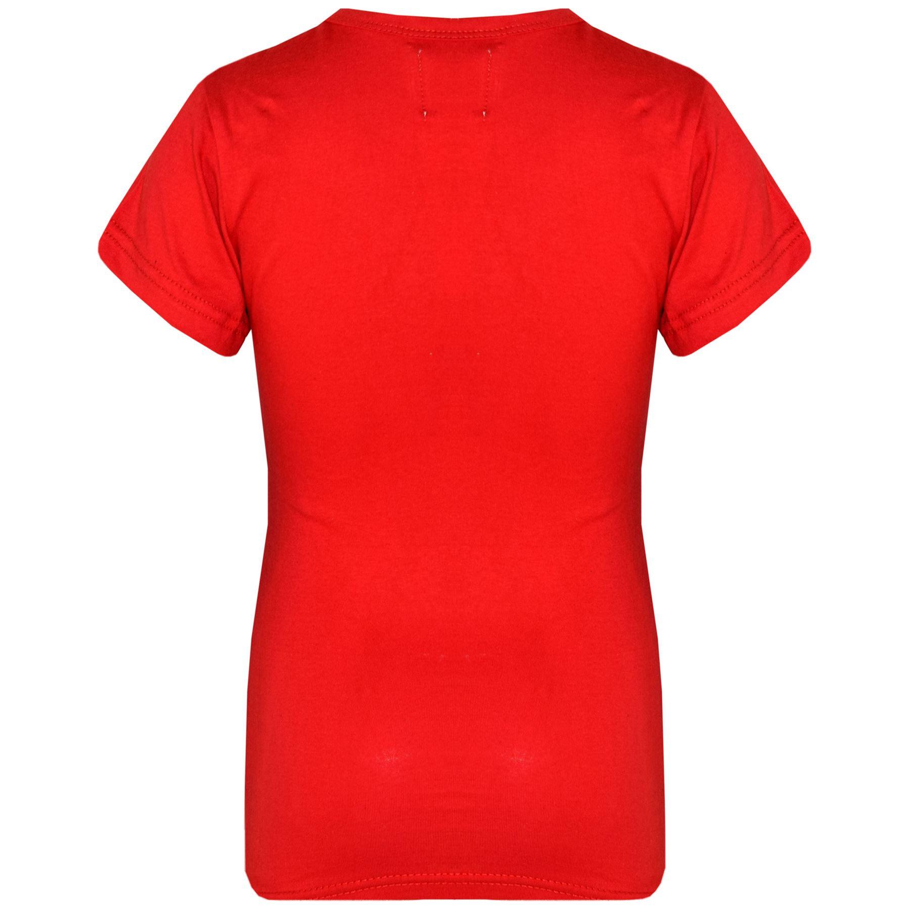 Kids-Girls-T-Shirts-Designer-100-Cotton-Plain-School-T-Shirt-Top-New-Age-3-13Yr thumbnail 33