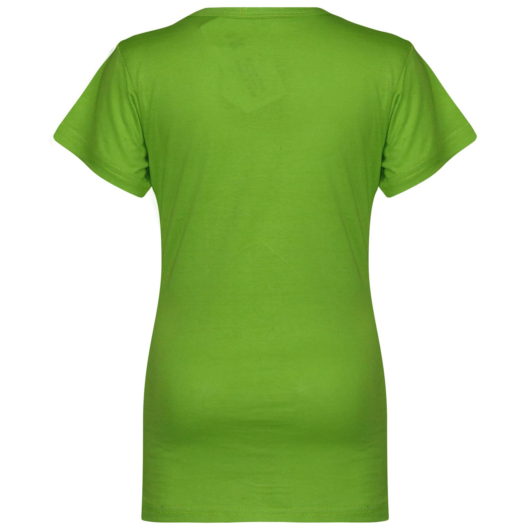 Kids-Girls-T-Shirts-Designer-100-Cotton-Plain-School-T-Shirt-Top-New-Age-3-13Yr thumbnail 24