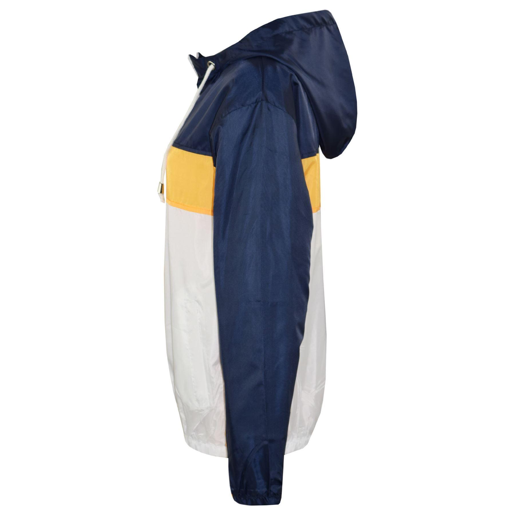 Kids-Boys-Girls-Windbreaker-Contrast-Block-Hooded-Jackets-Rain-Mac-Raincoat-5-13 thumbnail 10