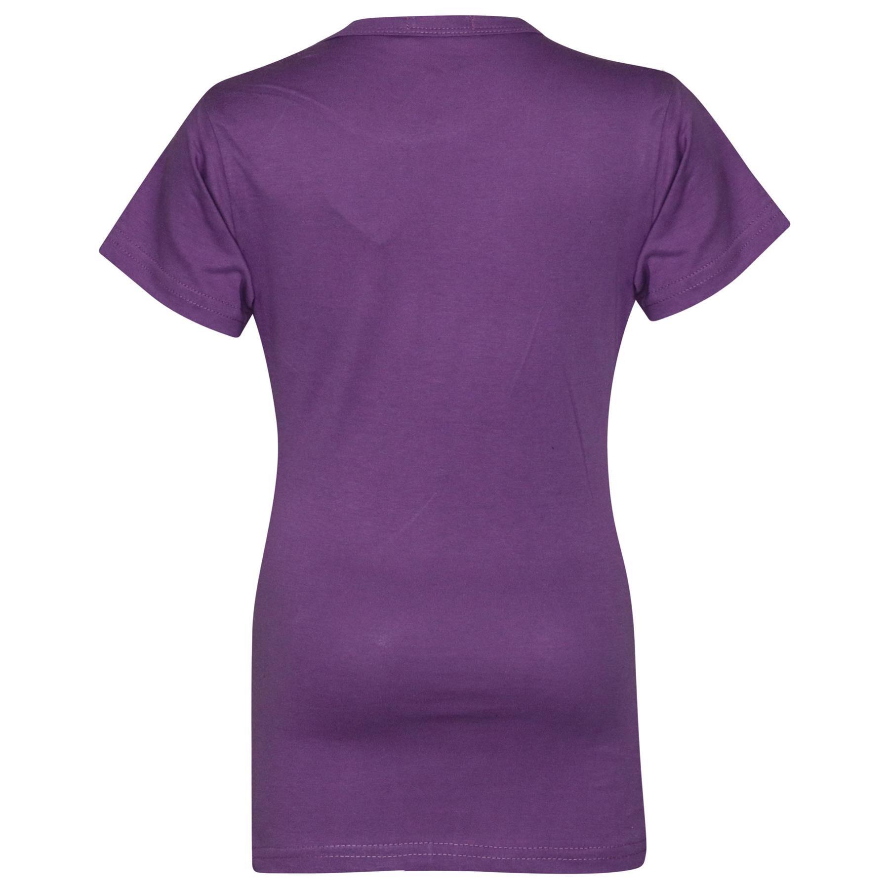 Kids-Girls-T-Shirts-Designer-100-Cotton-Plain-School-T-Shirt-Top-New-Age-3-13Yr thumbnail 21
