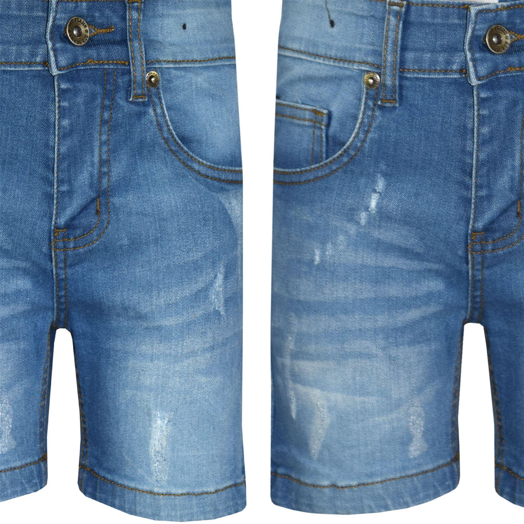 529c7da6e812 Kids Boys Denim Shorts Light Blue Ripped Chino Bermuda Jeans Short Knee  Length Shorts Boys