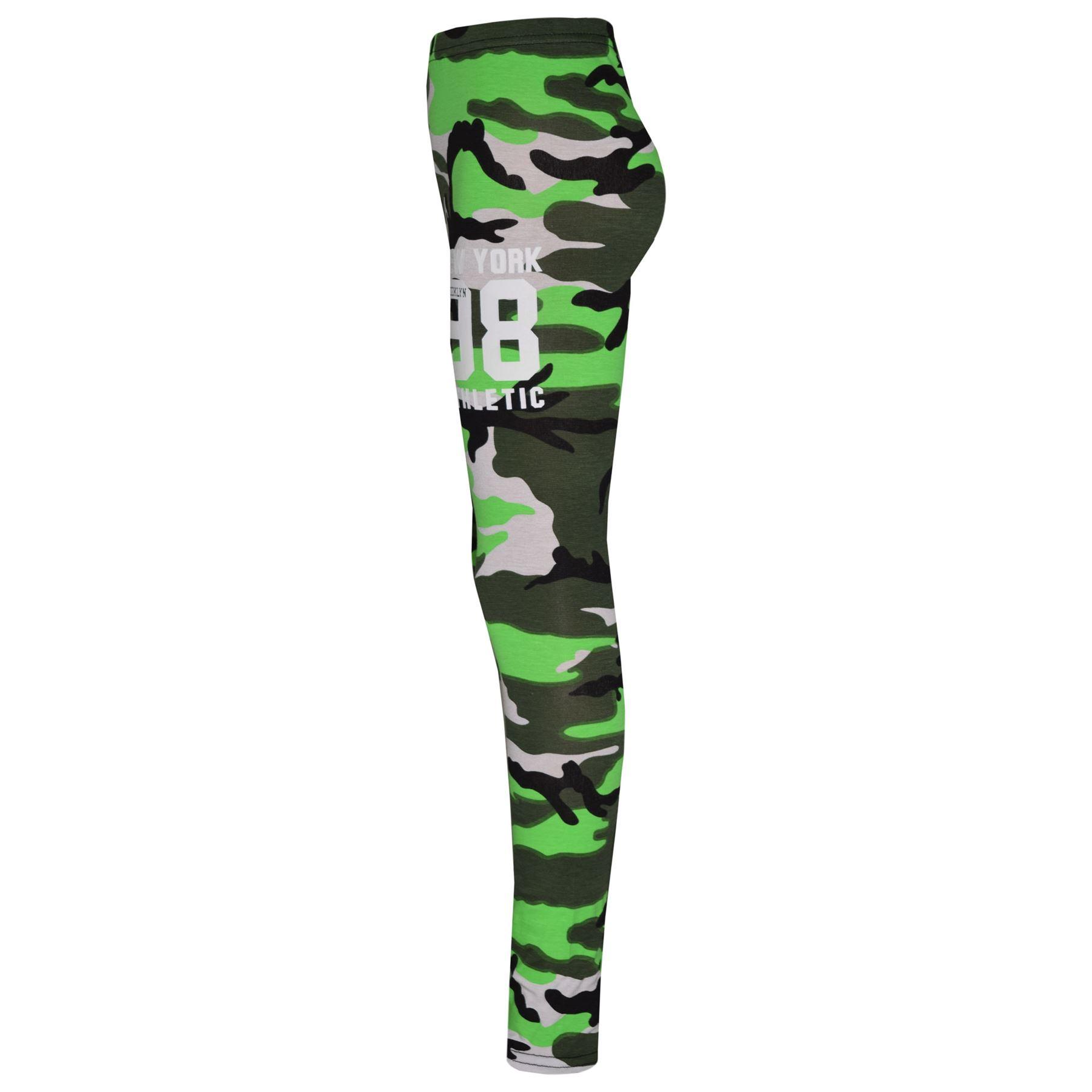 Girls-NEW-YORK-BROOKLYN-98-ATHLECTIC-Camouflage-Print-Top-amp-Legging-Set-7-13-Yr thumbnail 32
