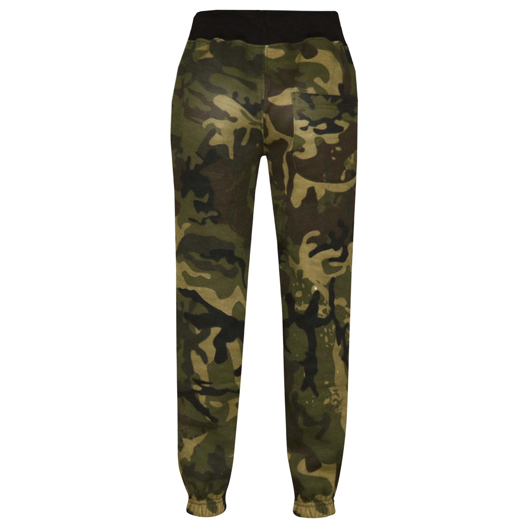 Girls Boys Tracksuit Kids A2Z Camouflage Green Top Bottom Jogging Suit 5-13 Year