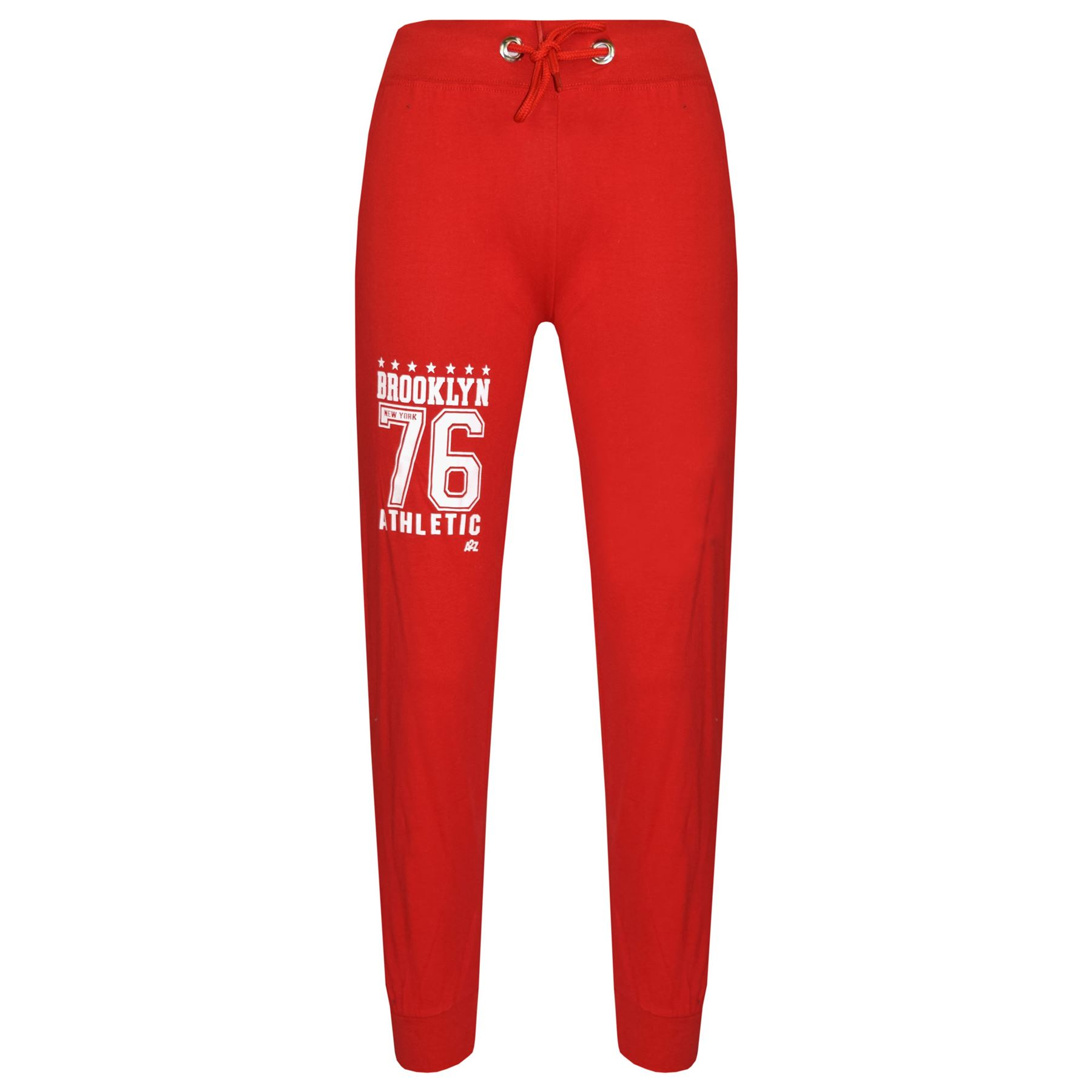 Kids Boys Designer Brooklyn 76 Red T Shirt Tops Trouser Tracksuit Set 5-13 Year