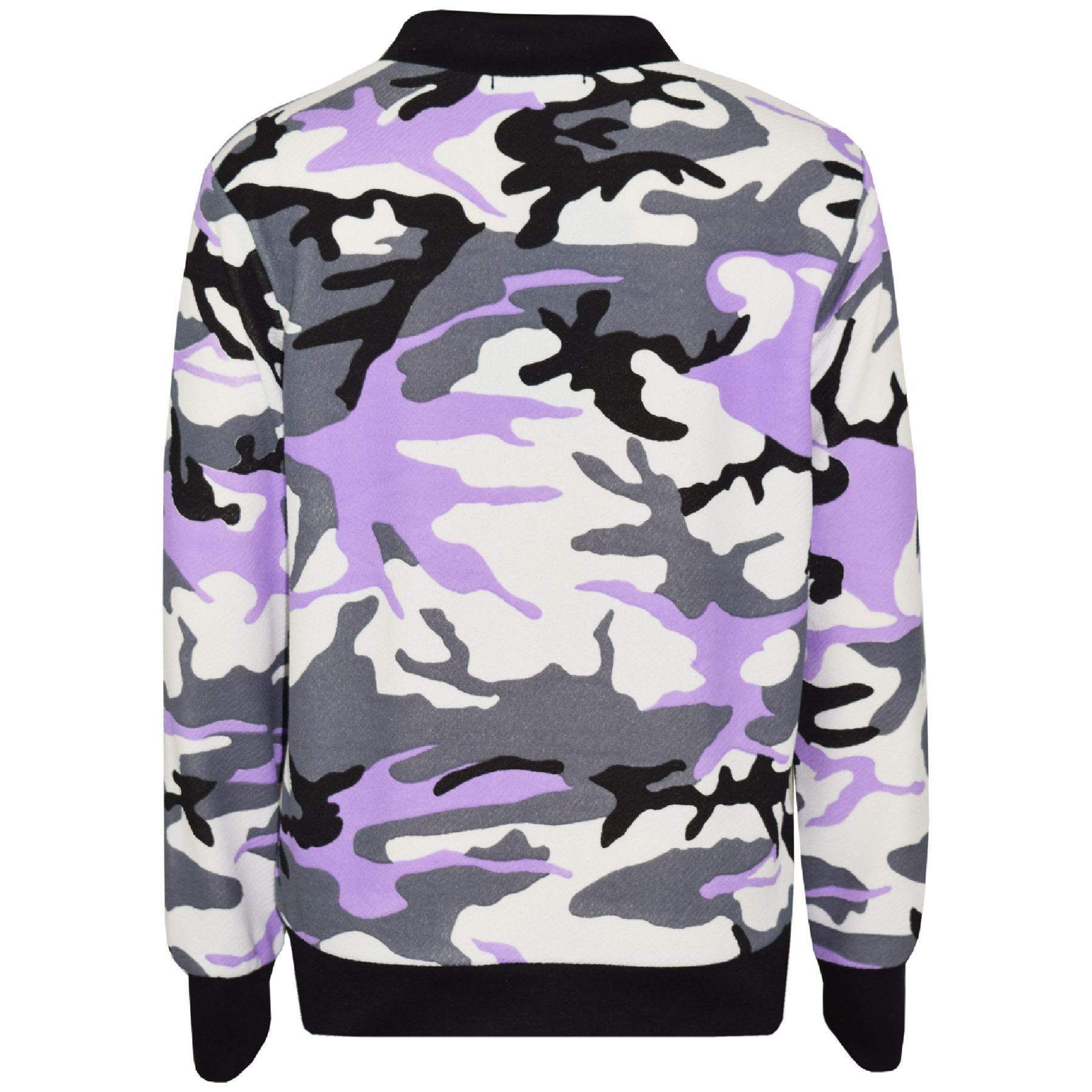 Kids-Girls-Camouflage-Print-Crop-Top-Legging-Jacket-Tracksuit-Age-7-13-Years miniatuur 9