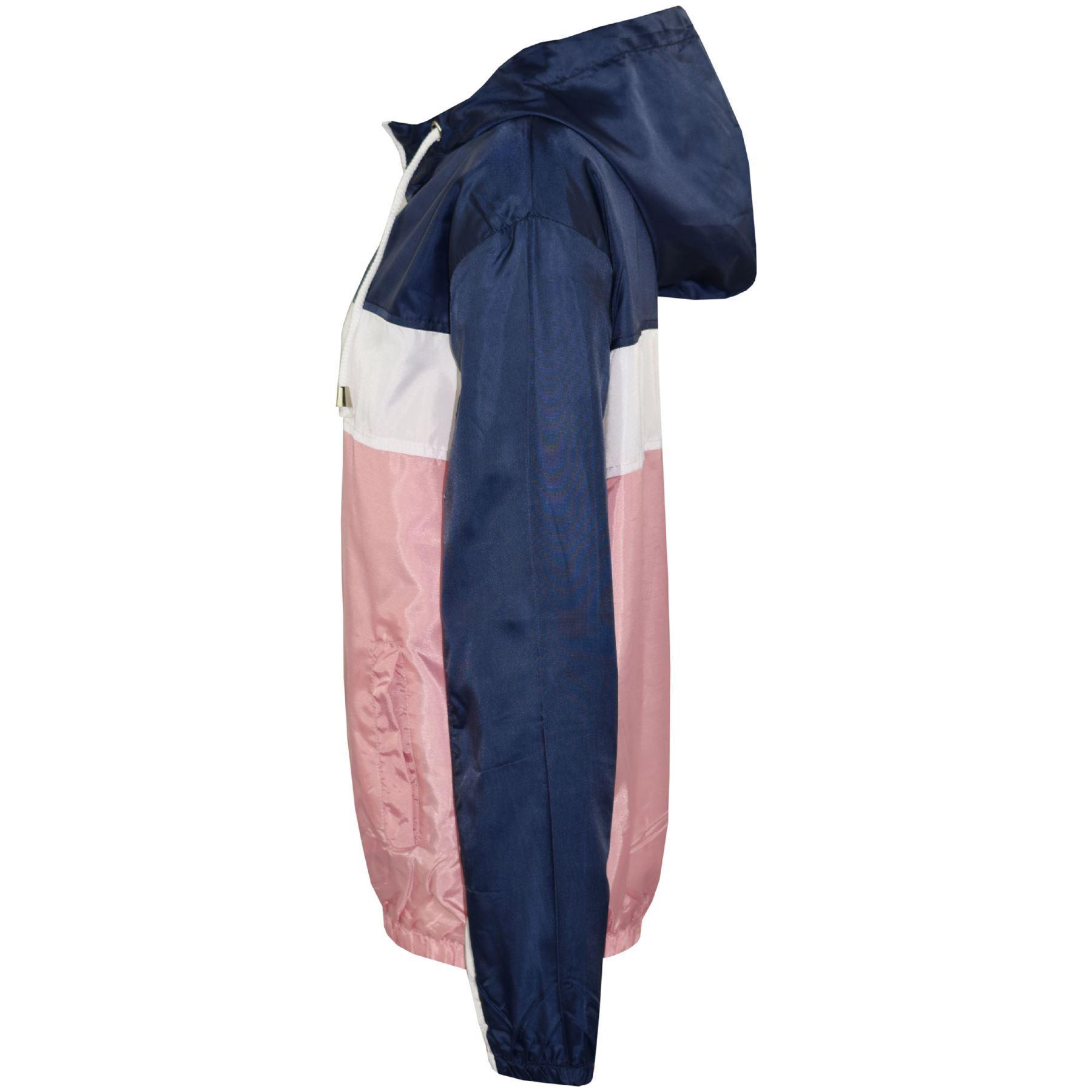Kids-Boys-Girls-Windbreaker-Contrast-Block-Hooded-Jackets-Rain-Mac-Raincoat-5-13 thumbnail 13