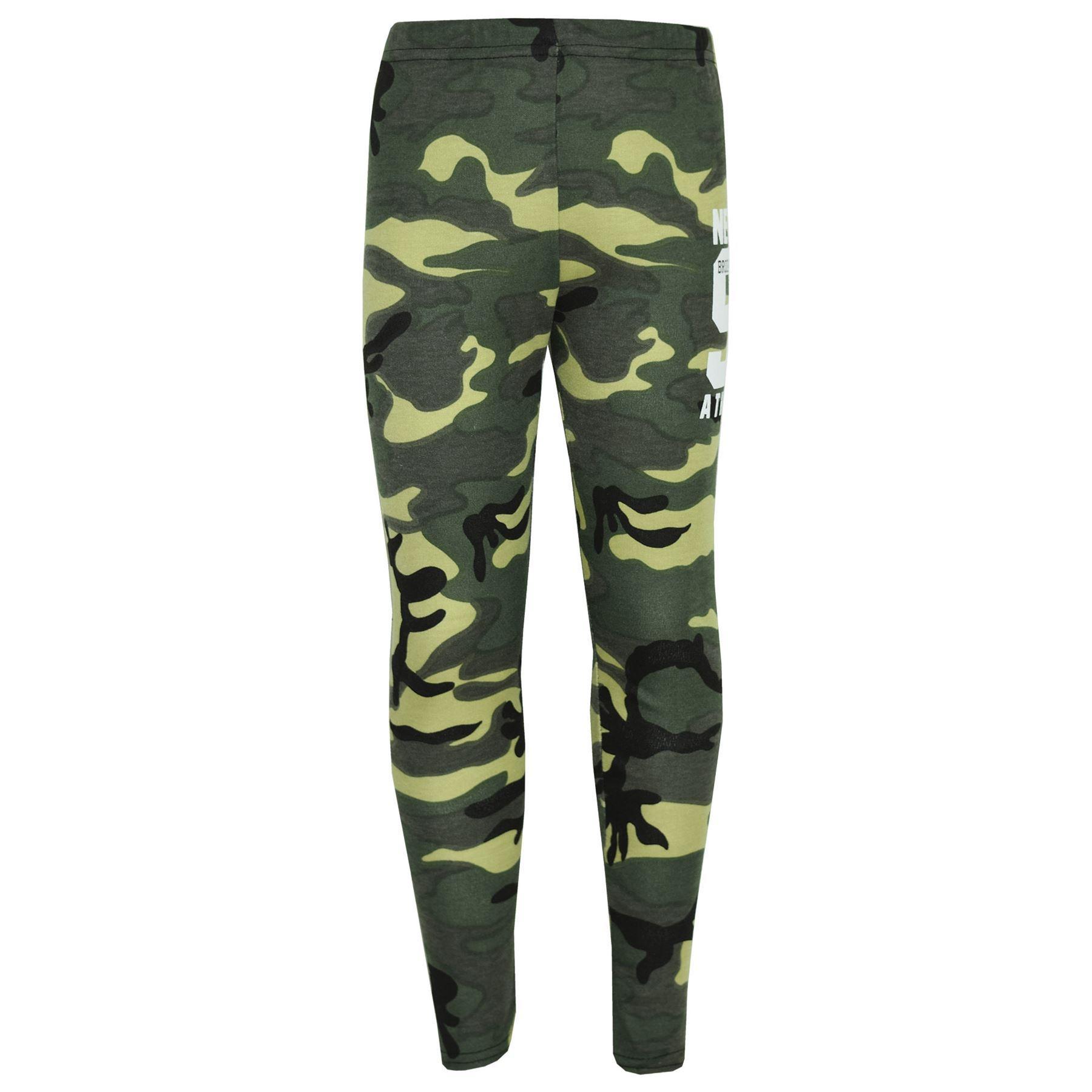 Girls-NEW-YORK-BROOKLYN-98-ATHLECTIC-Camouflage-Print-Top-amp-Legging-Set-7-13-Yr thumbnail 24