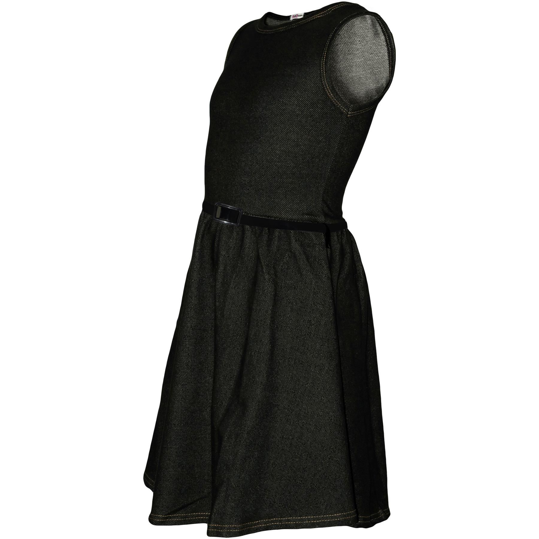 Girls-Skater-Dress-Kids-Party-Dresses-With-Free-Belt-5-6-7-8-9-10-11-12-13-Years thumbnail 24