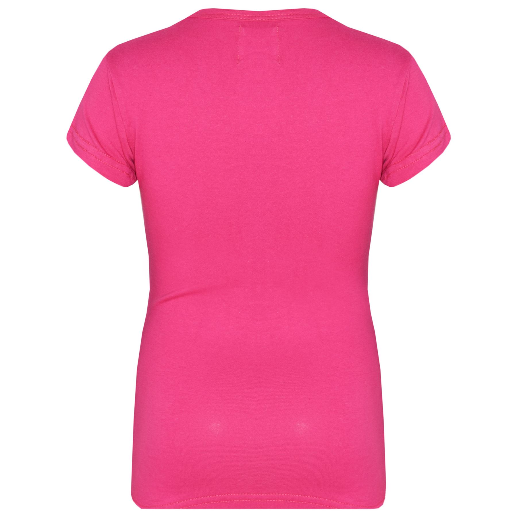 Kids-Girls-T-Shirts-Designer-100-Cotton-Plain-School-T-Shirt-Top-New-Age-3-13Yr thumbnail 30